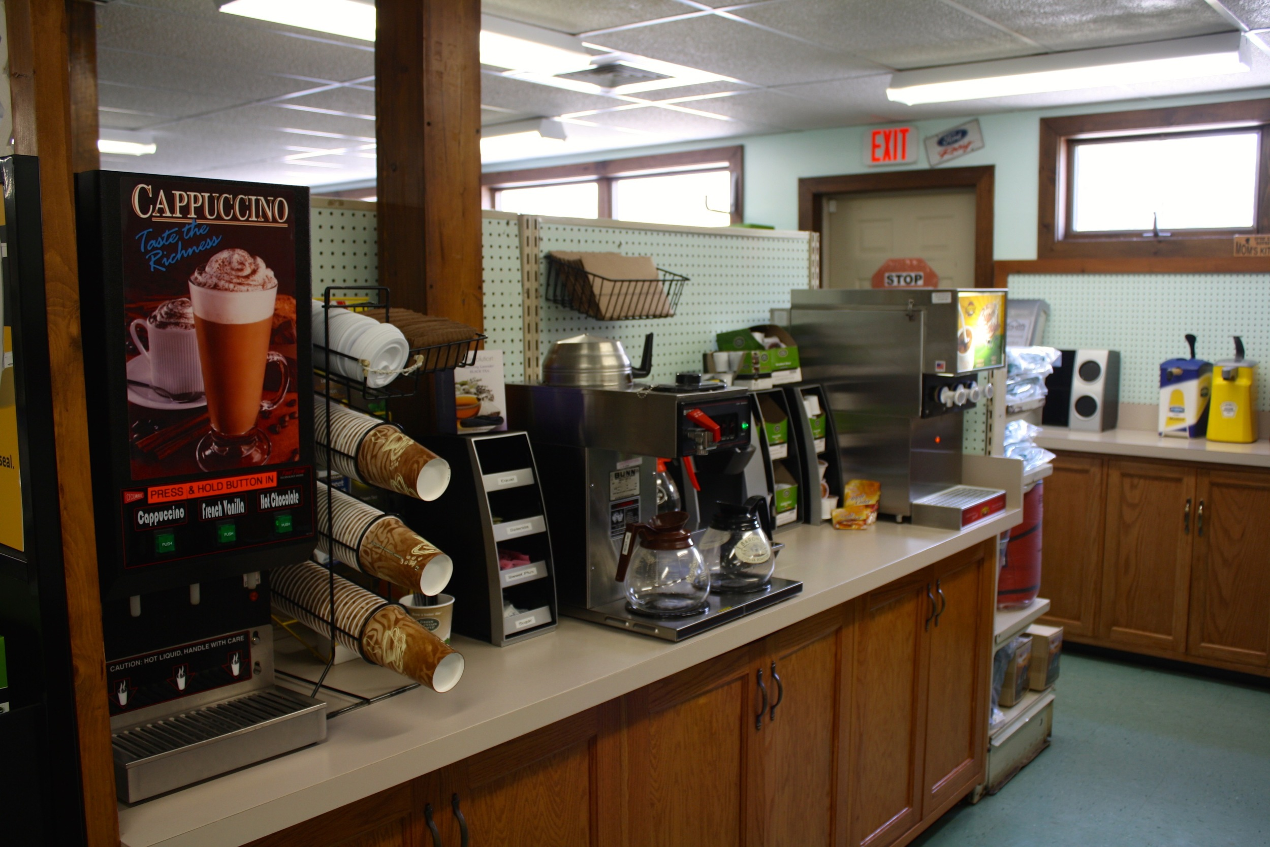 coffee and breakfast items available
