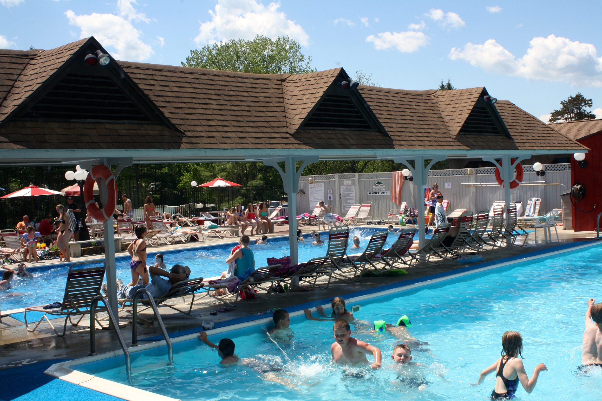 activities in the pool area