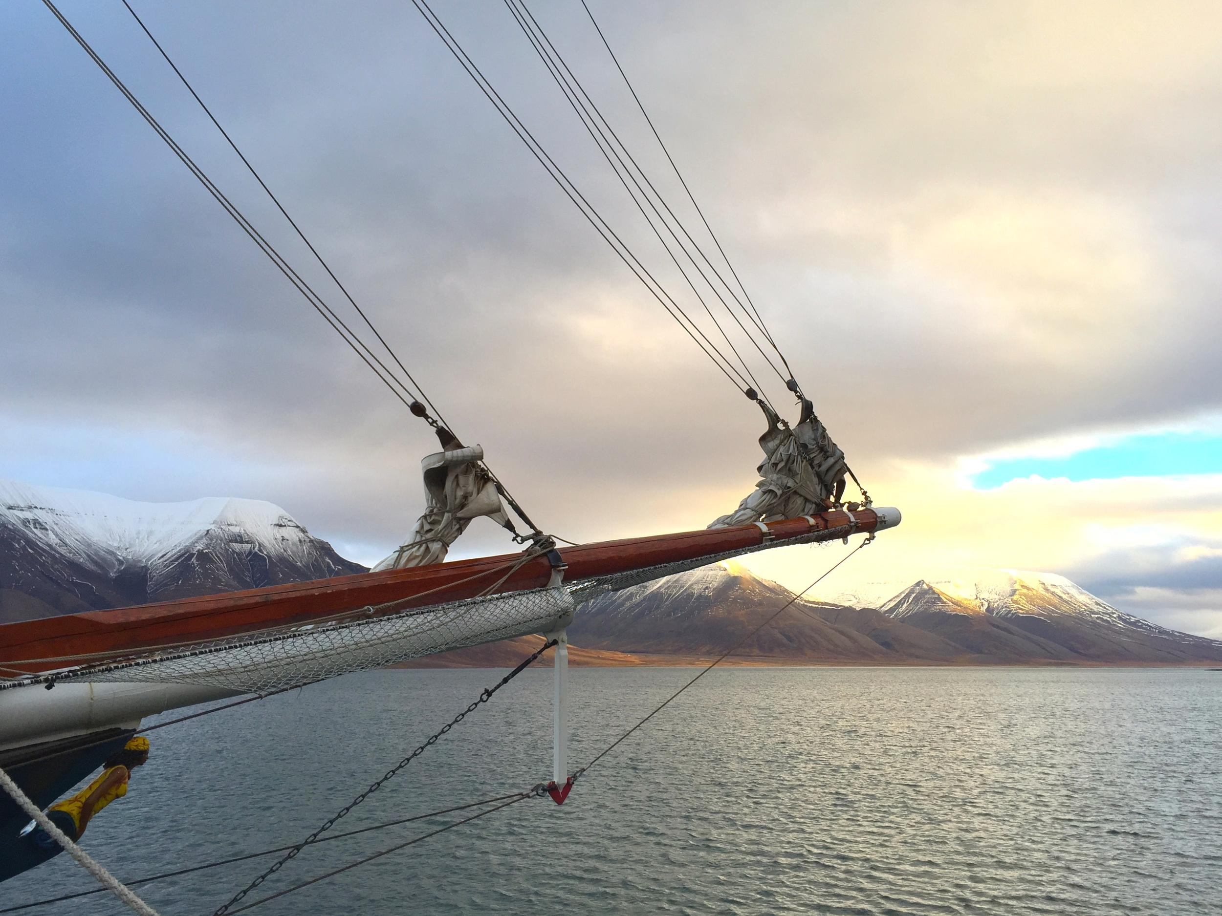 Longyearbyen Harbor and the Antigua