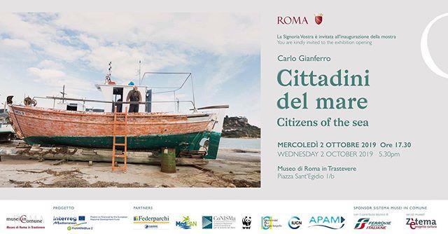 """""""Cittadini del mare"""" dal 2/10 al 20/10 2019 al Museo di Roma in Trastevere, mostra a cura di Giovanna Calvenzi e Marta Posani. Vi aspetto. """"Citizen of the sea"""" from 2/10 to 20/10 2109. #carlogianferro #museodiromaintrastevere #citizenofthesea #wwfmediterranean"""