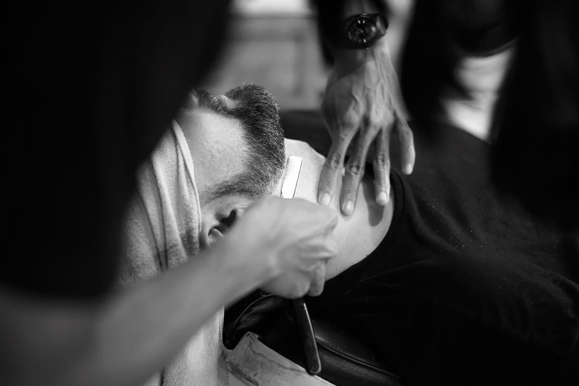 Barbershop Black And White Barber Shave Shaving