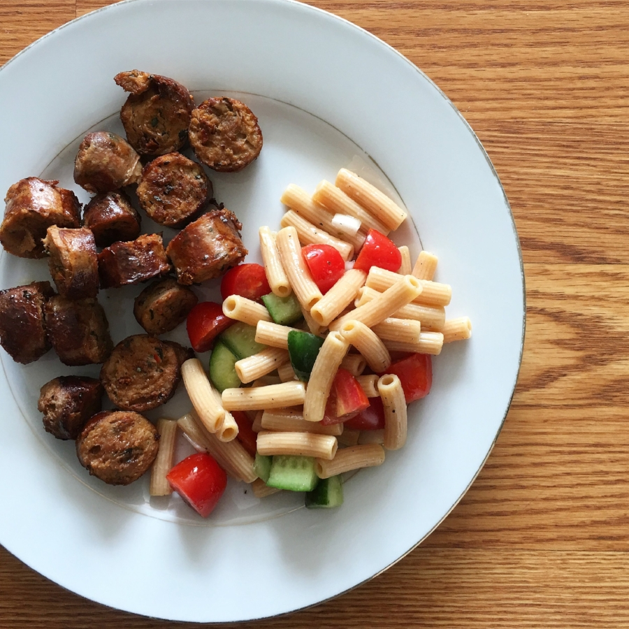 italian-veggie-pasta-with-sundried-tomato-chicken-sausage