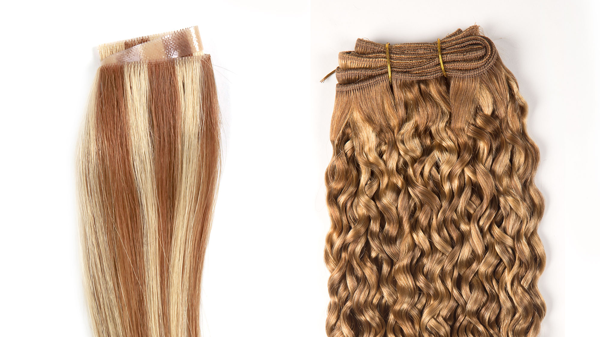 Comparison of Hand-tied Skin Weft and Machine-tied wefts