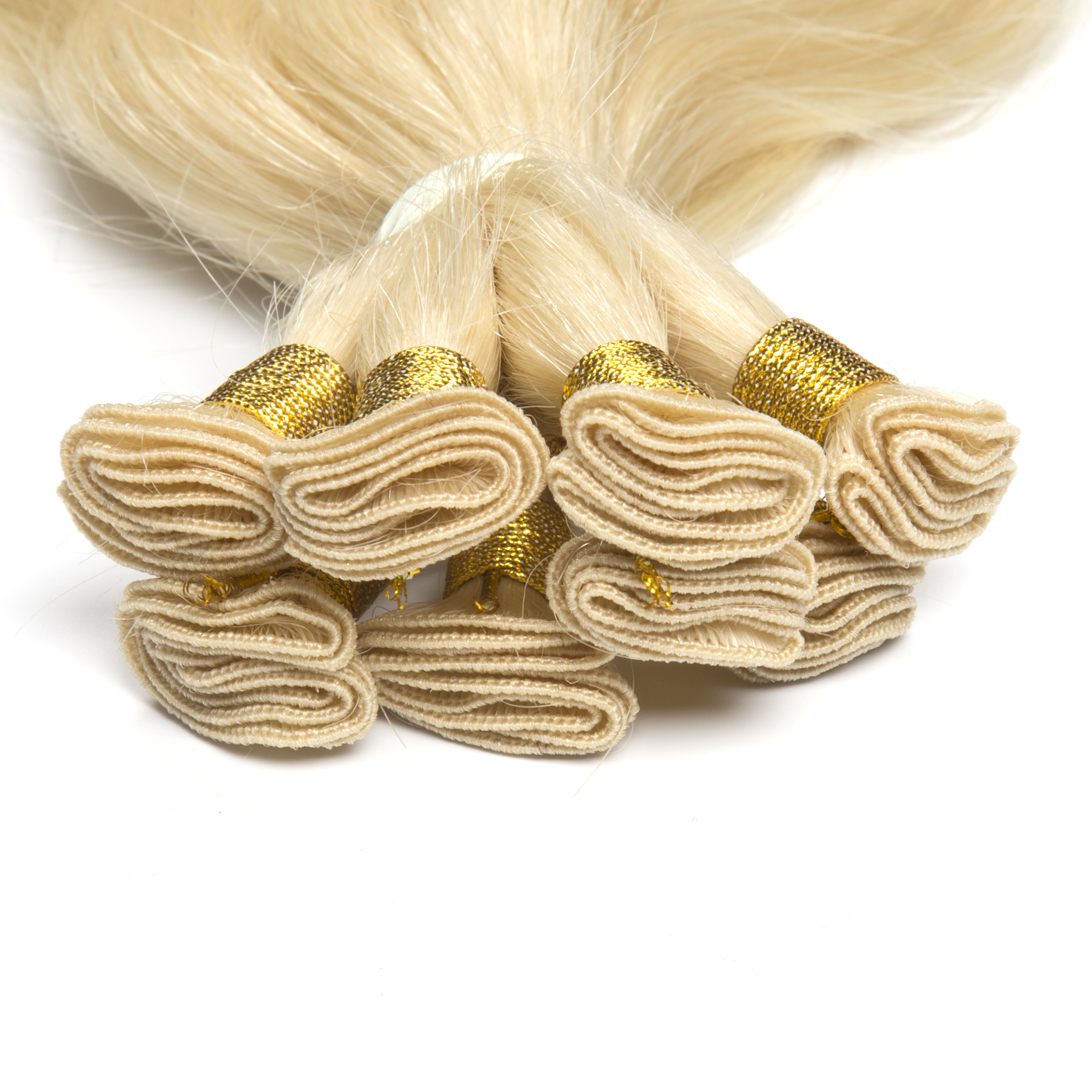 Hand-tied wefts are thinner, stronger and more comfortable to wear.