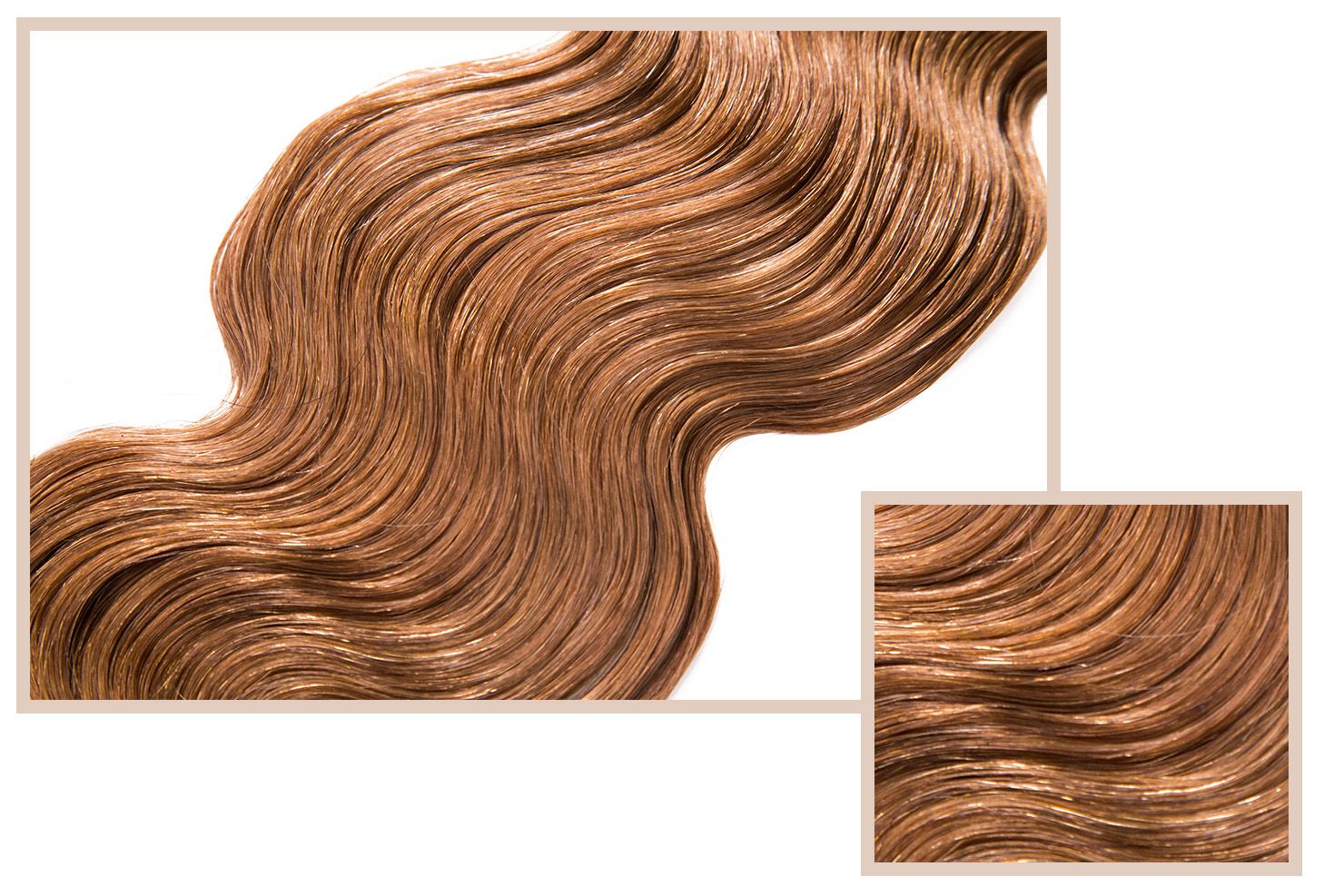 "BODY WAVE - Available in Essential, Classic, LuxeThe same texture as Silky Straight. Feminine, light-weight, bouncy and voluminous hair with a loose ""S"" curl for a soft, natural look. Ideal for creating sexy down-do's and modern, loose up-do's. Easily manageable and ideal for most hair types."