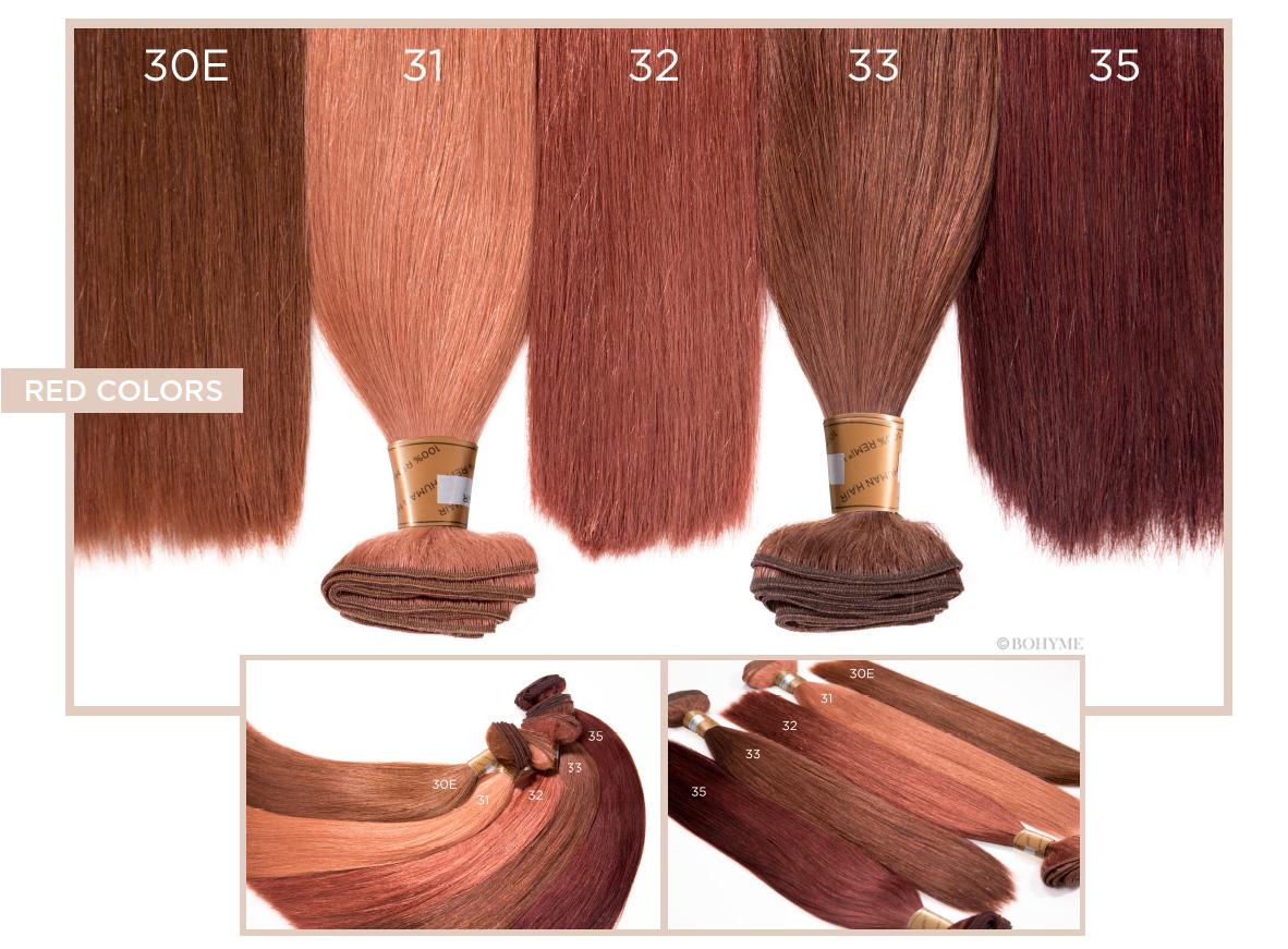 Red Colors  30E, 31, 32, 33, 35