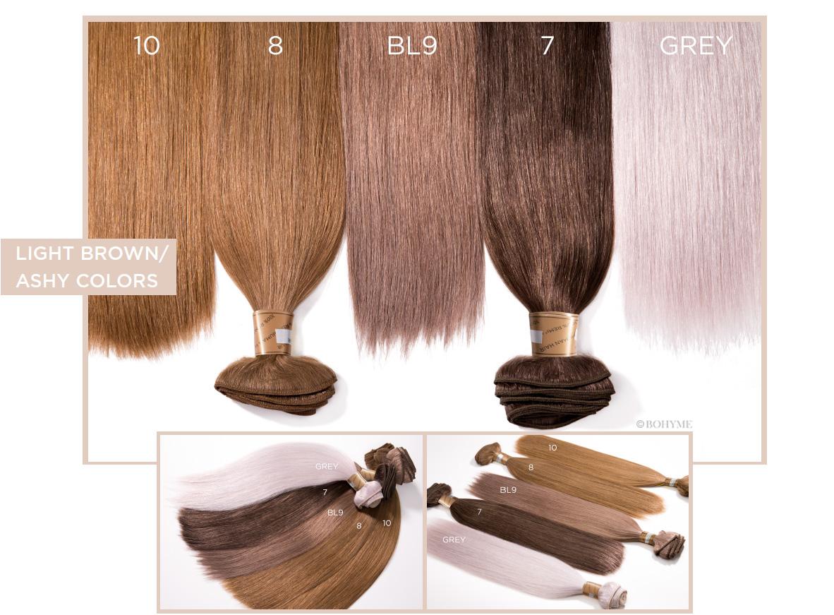 Light Brown/Ashy Colors  10, 8, BL9, 7, GREY