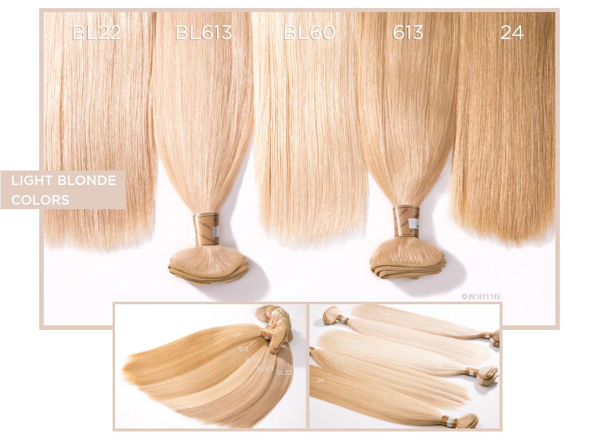 Light Blonde Colors  BL22, BL613, BL60, 613, 24