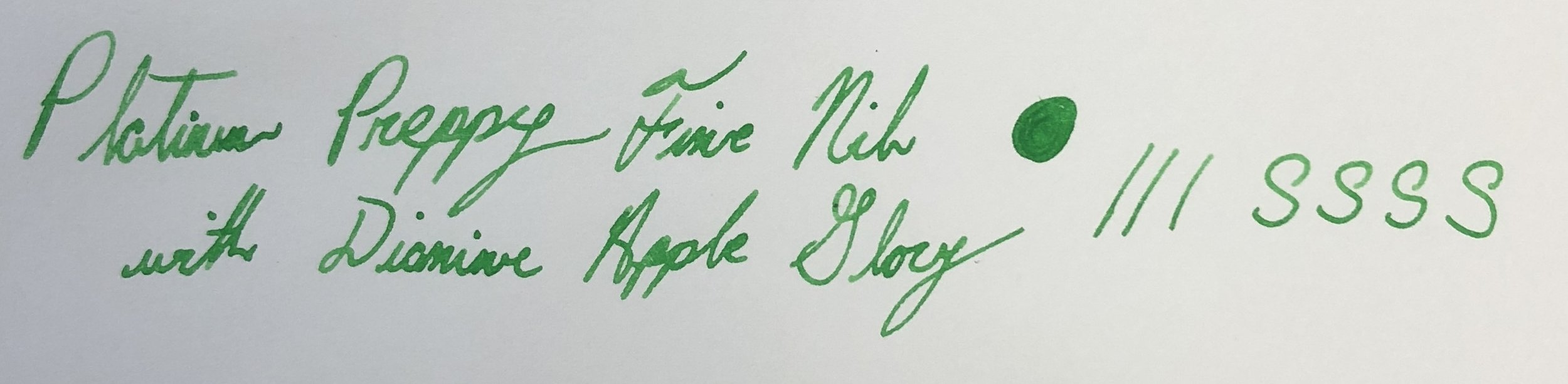 Platinum Preppy Fine Nib with Diamine Apple Glory