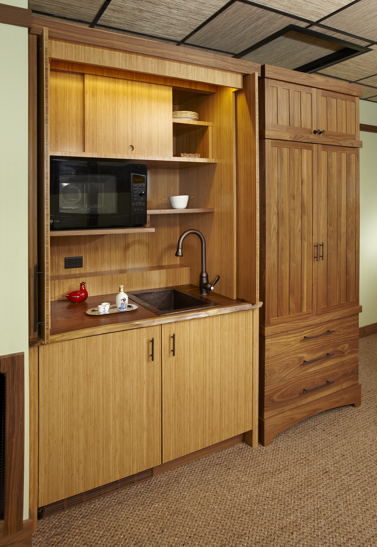Kitchenette and Wardrobe