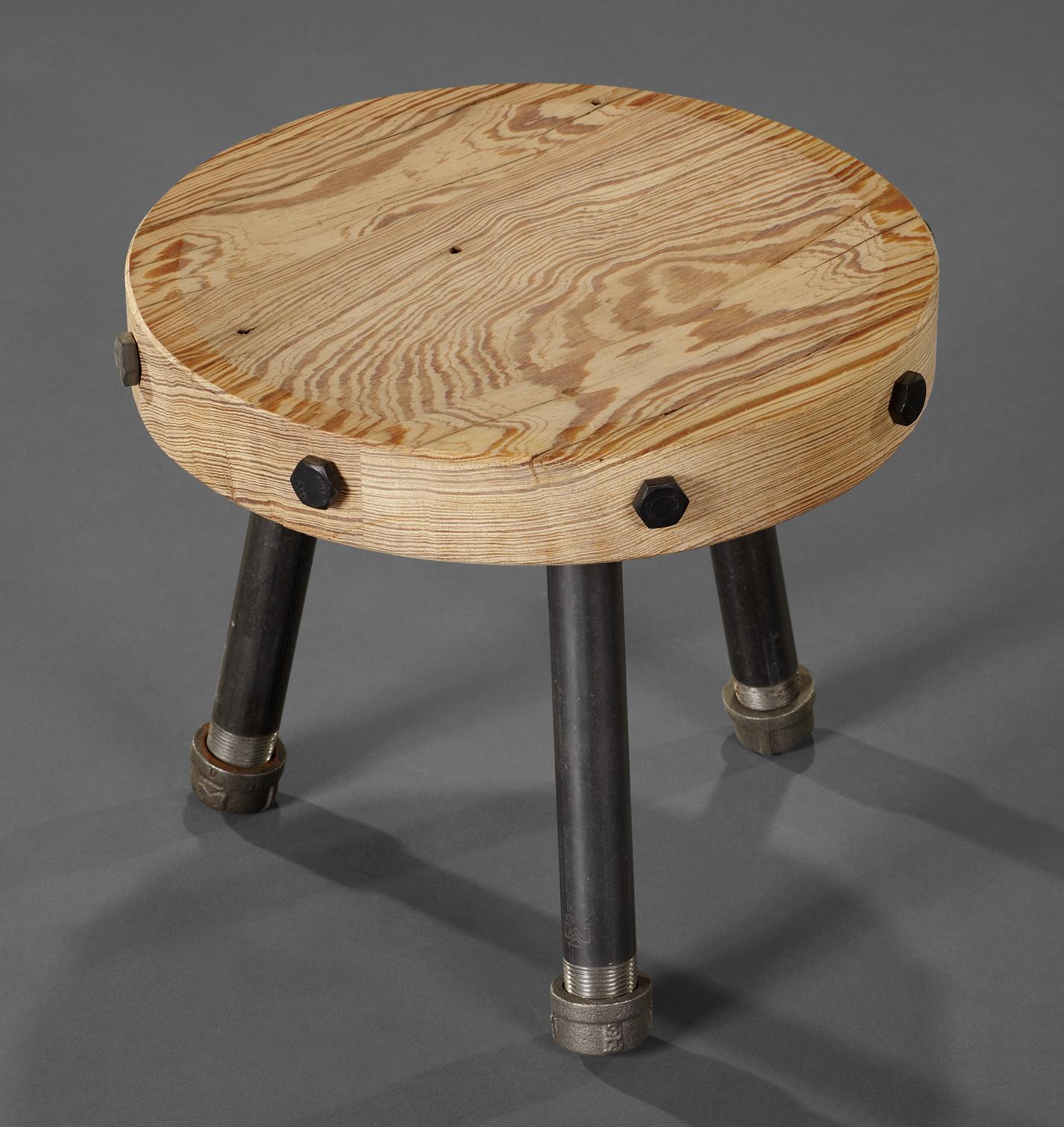 Industrial Style Footstool
