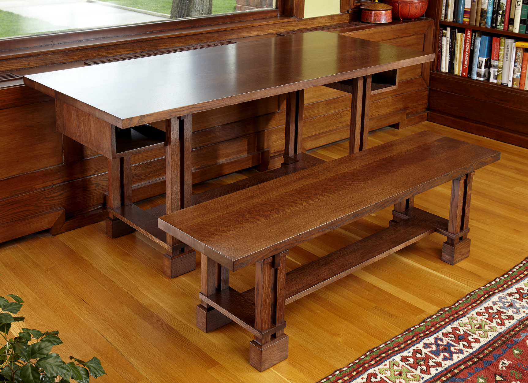 Prairie Style Table and Bench