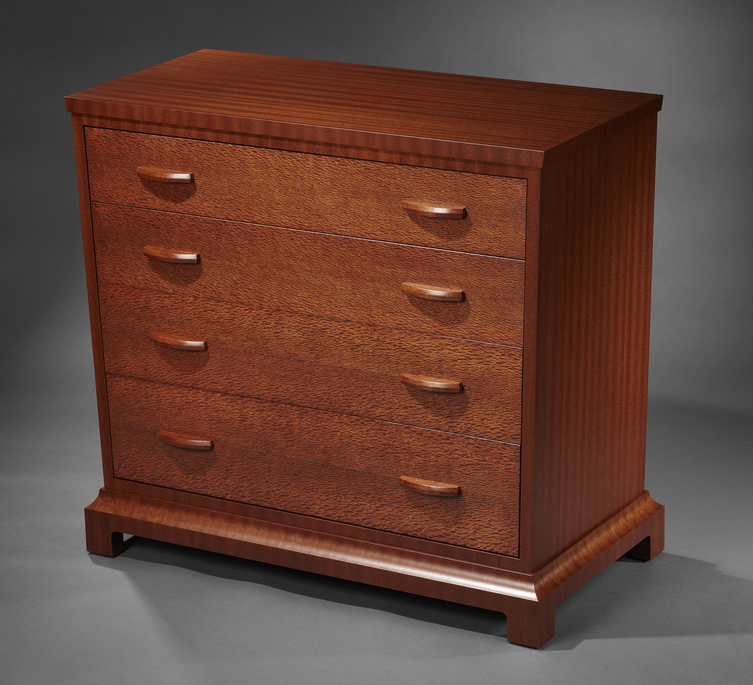 Mahogany and Lacewood Dresser