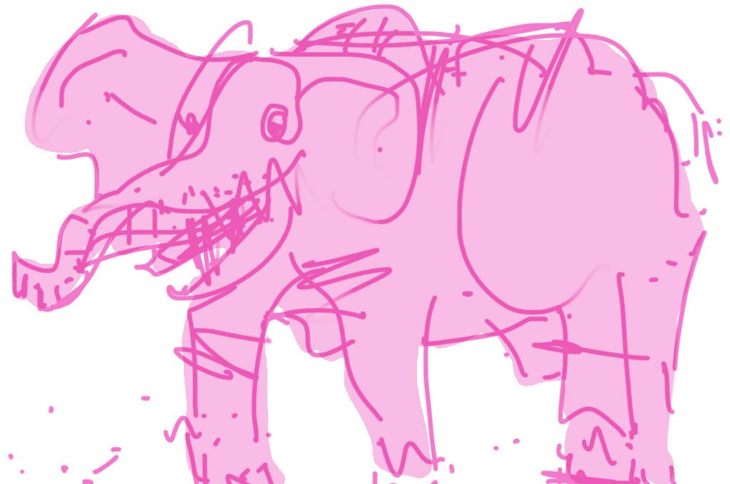 A very pink elephant ©Narjas Carrington
