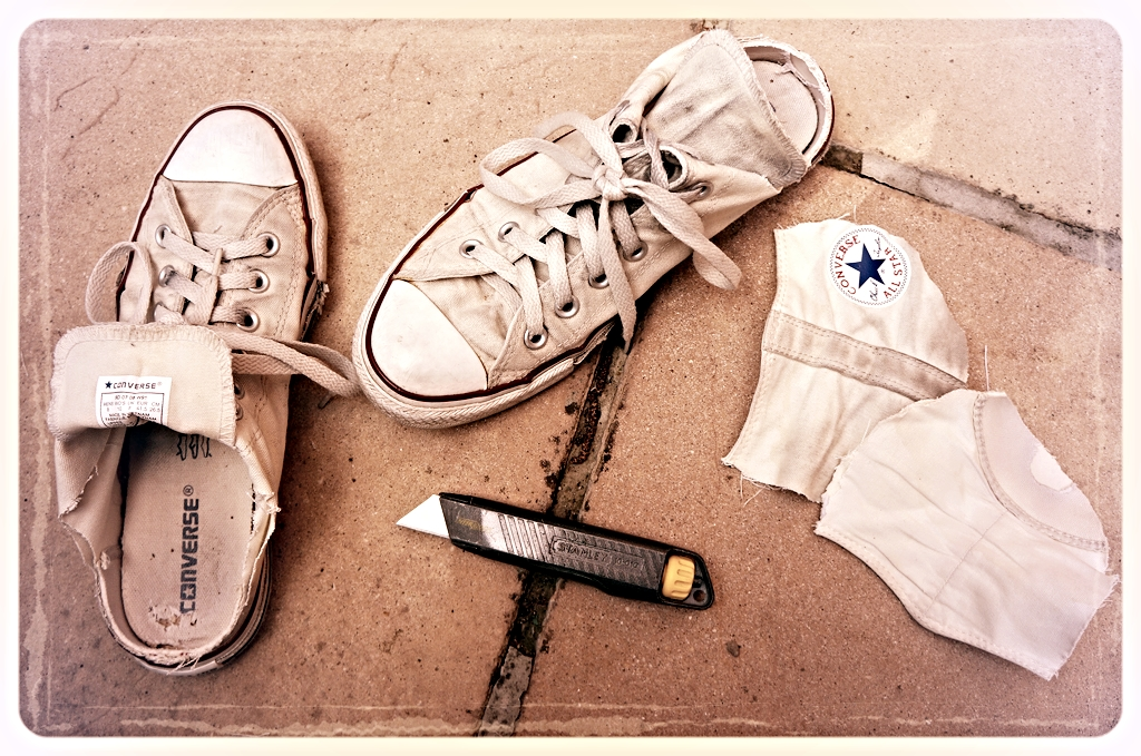Converse conversion kit. Photo © Narjas Carrington