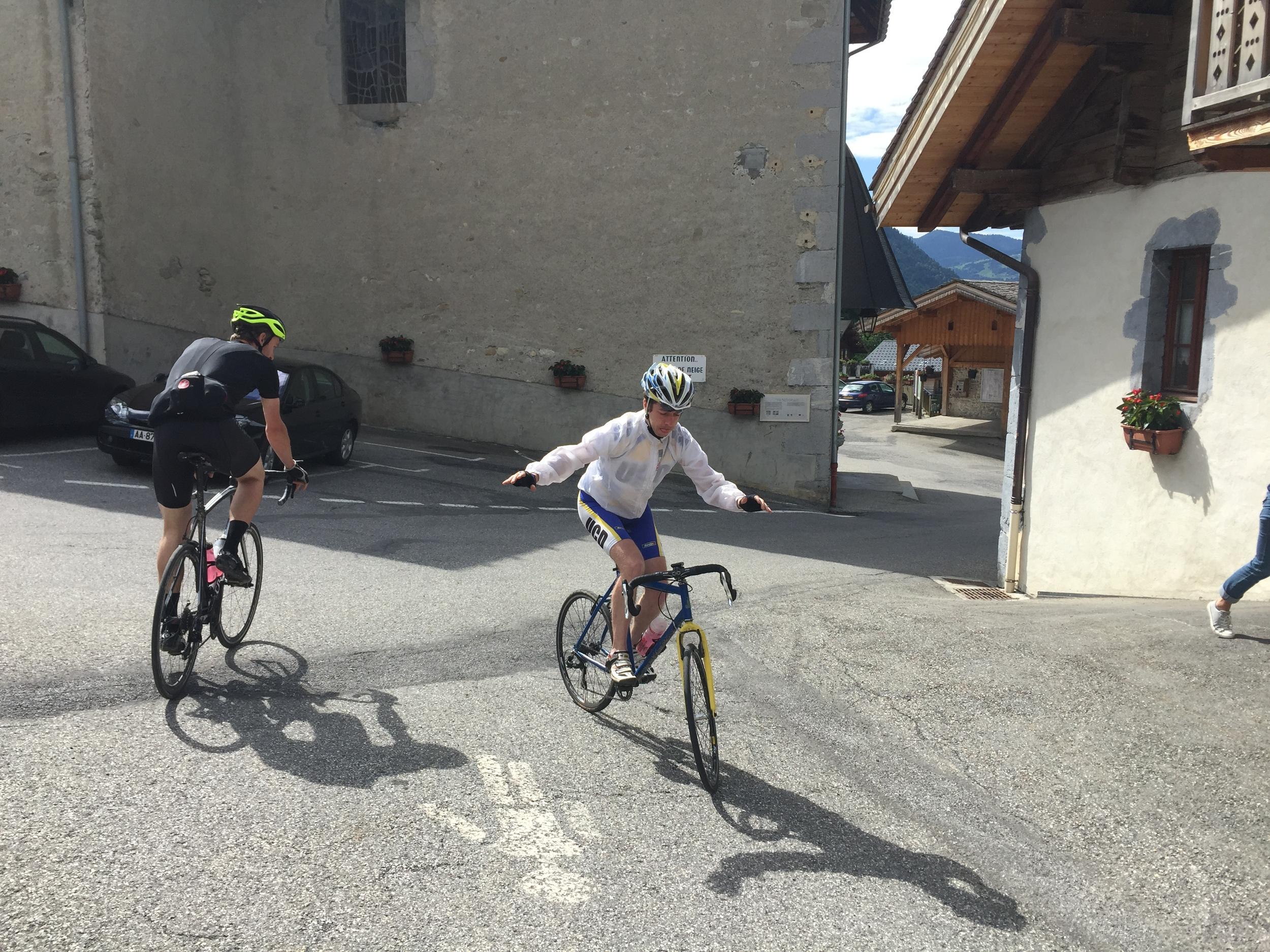 Showing off in La Giettaz