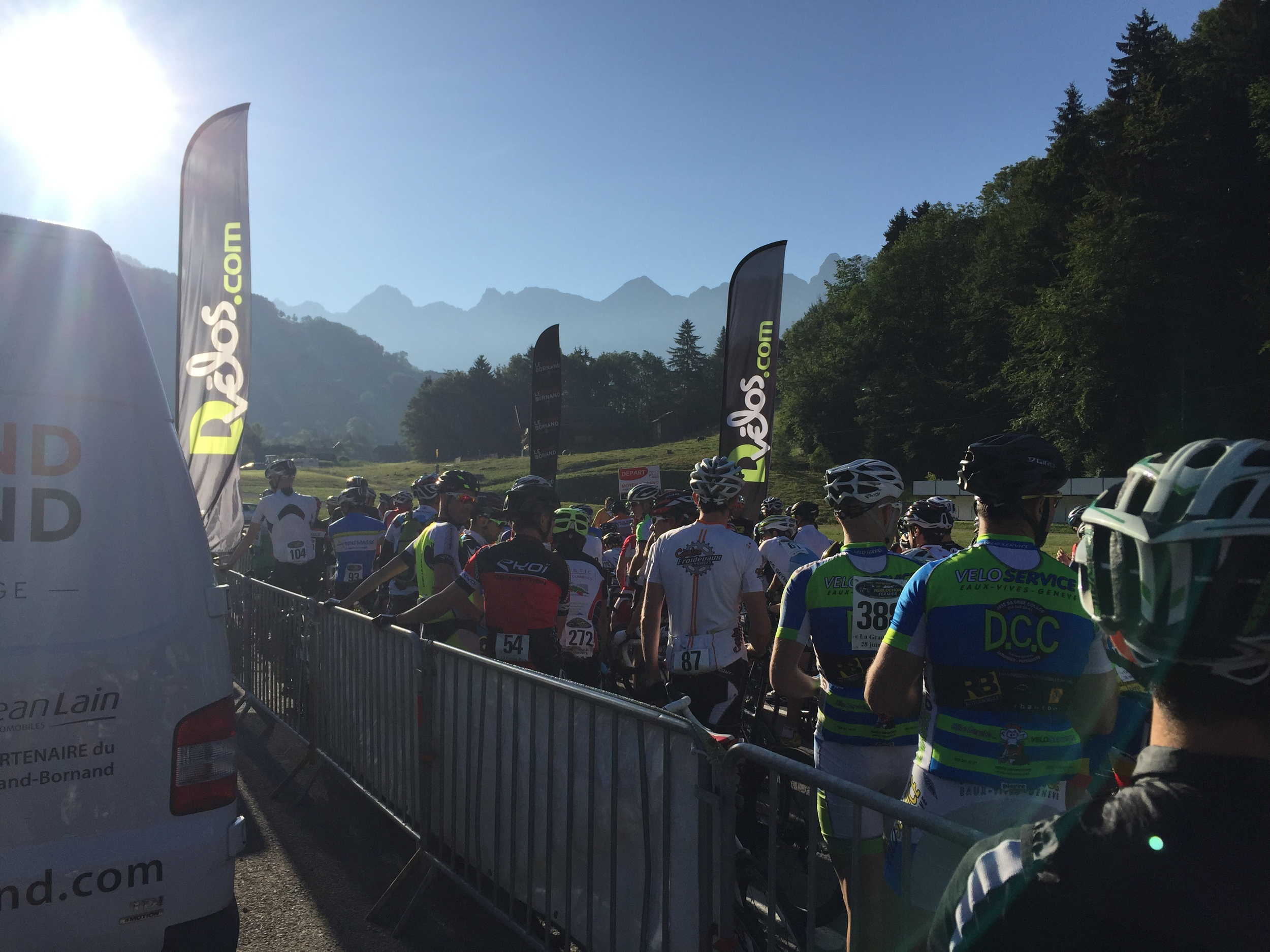 Early morning start under the mountains of the Aravis