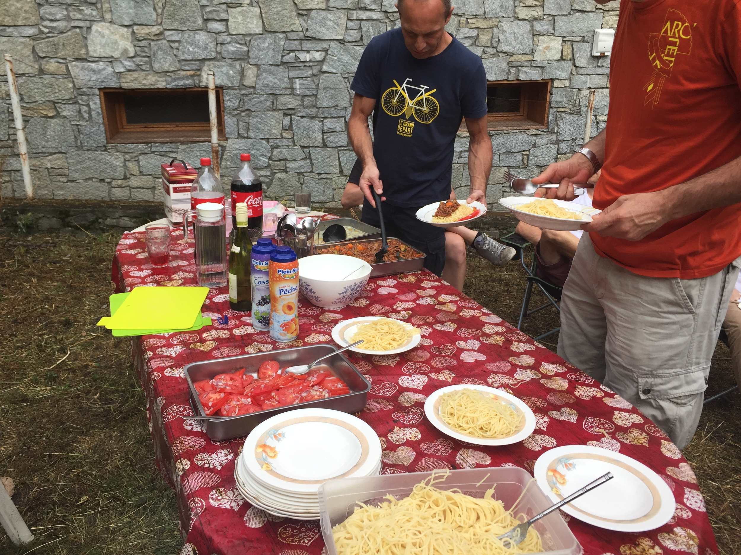 Carbo loading at our pasta party