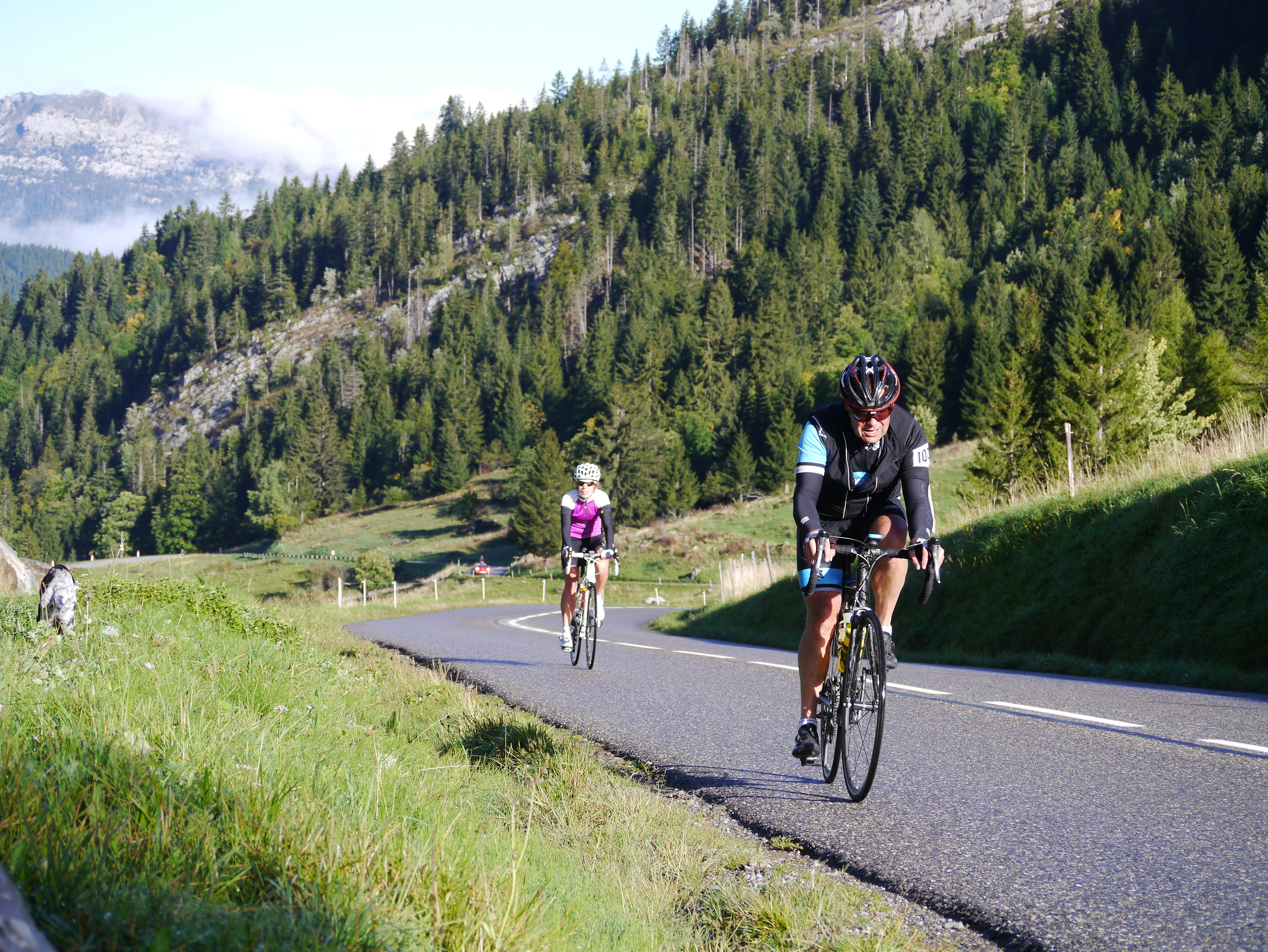 Beautiful warm up on the Col des Aravis, Day 3