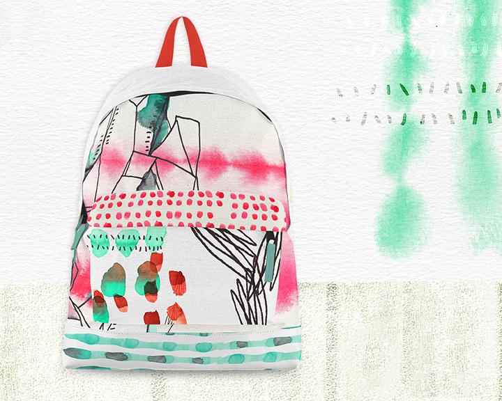 Abstract Watercolor Bag