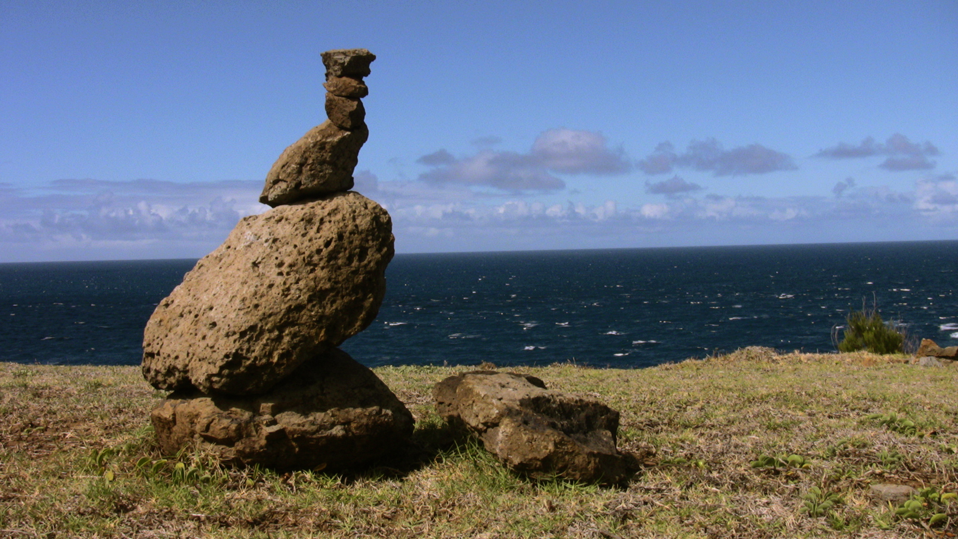 Cairn in Hawaii, 2008