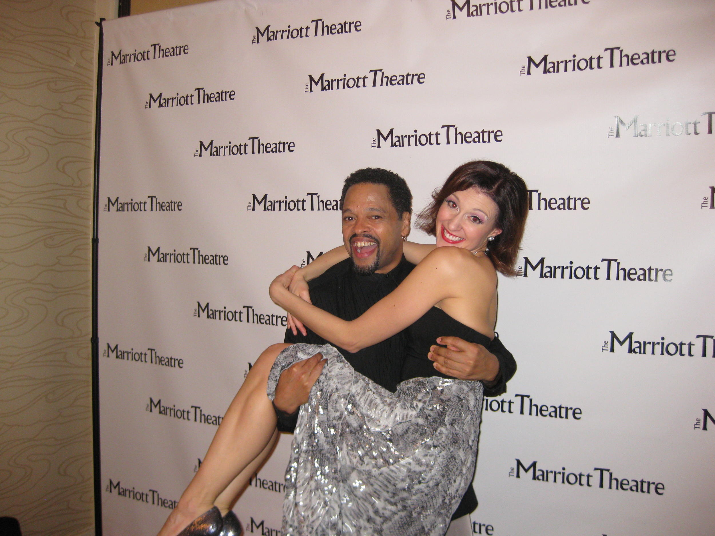 With Ted Levy during My One and Only - as Assistant Choreographer/Dance Captain