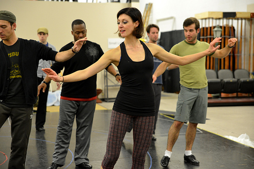 """Teaching the Men in """"My One and Only"""" - Assistant Choreographer, Melissa Zaremba"""