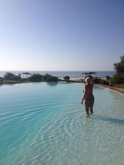 relaxing on the kendra pilates morocco retreat