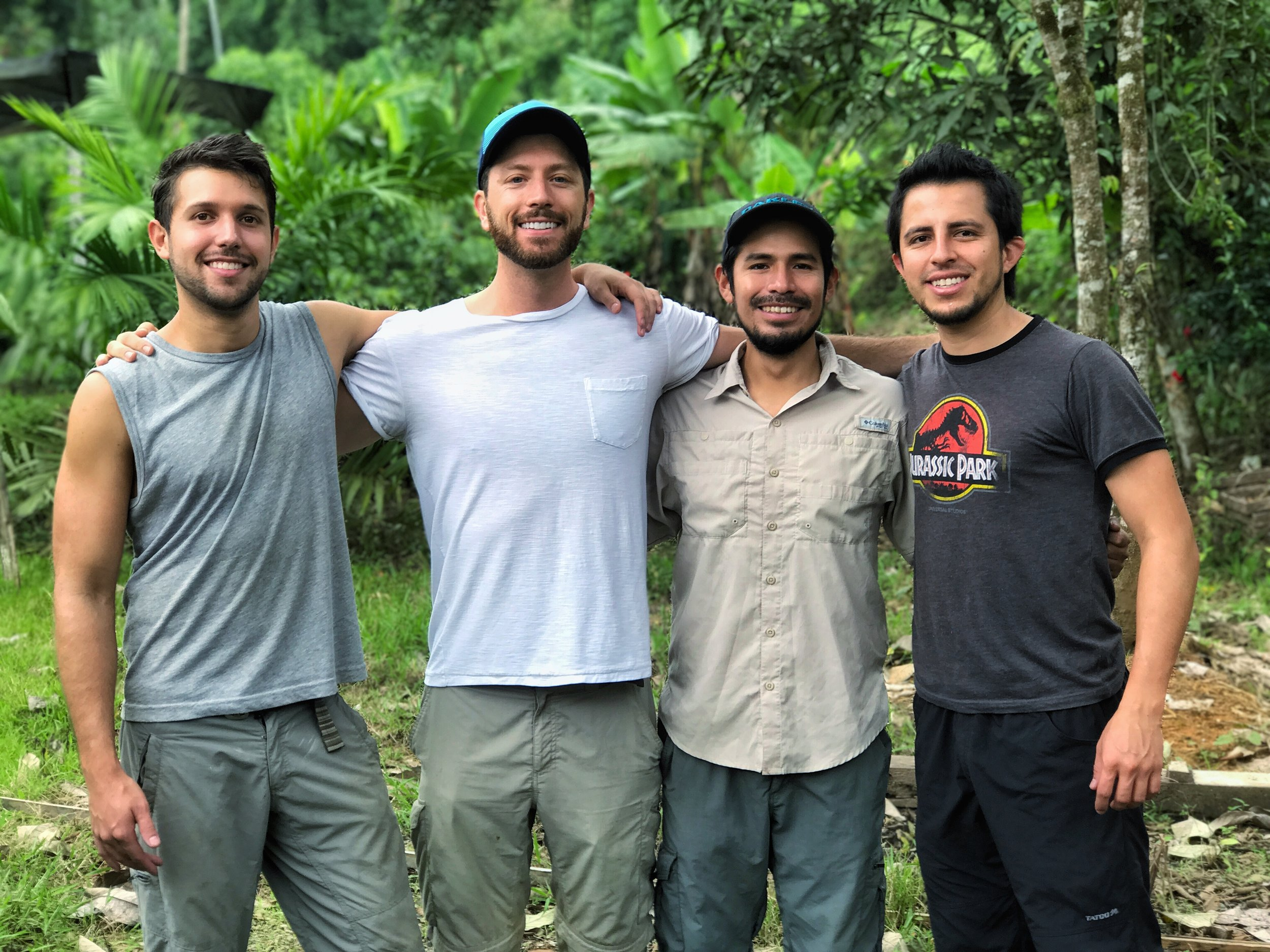 Some of the expedition team members! Left to right: Alejandro, Aaron, Frank and Lucas