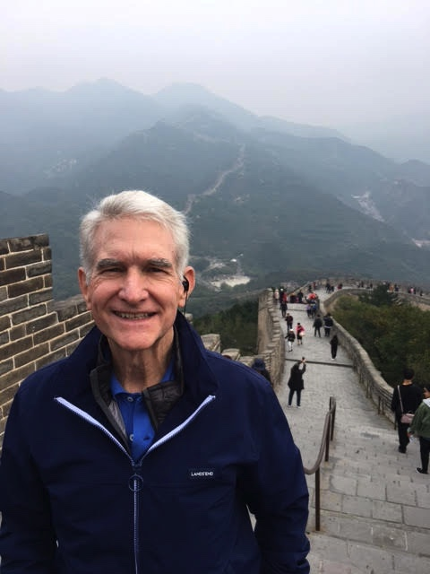 Bob on the Great Wall!  WOW!