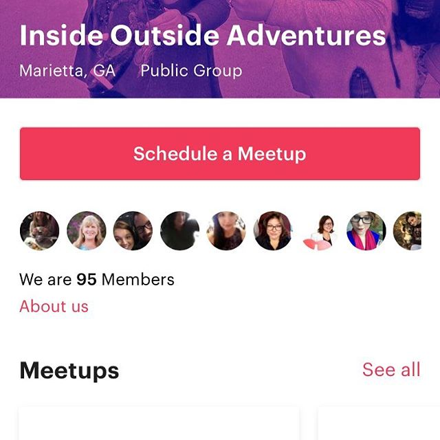 Y'all. We have 95 members in our meet up group!!!💖💖💖 If you're on www.meetup.com join our group /inside-outside-Adventures  If you're not yet, please join meetup and then join us on an adventure. You can also go to our website www.insideoutside.me and see the events calendar. (But note that our meet ups are rsvp) Like our page and share it. We need the help as FB is biased on who gets seen. #insideoutside #bestdayever