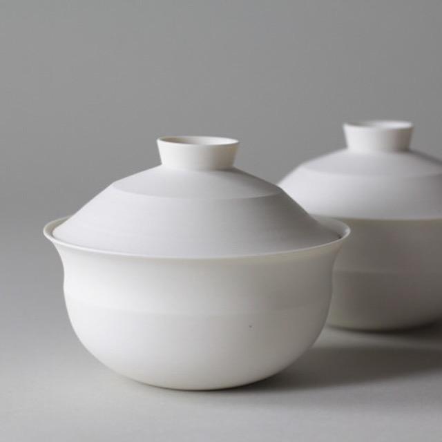 Ceramic tableware serving bowl set by Lilith Rockett, Portland, Oregon