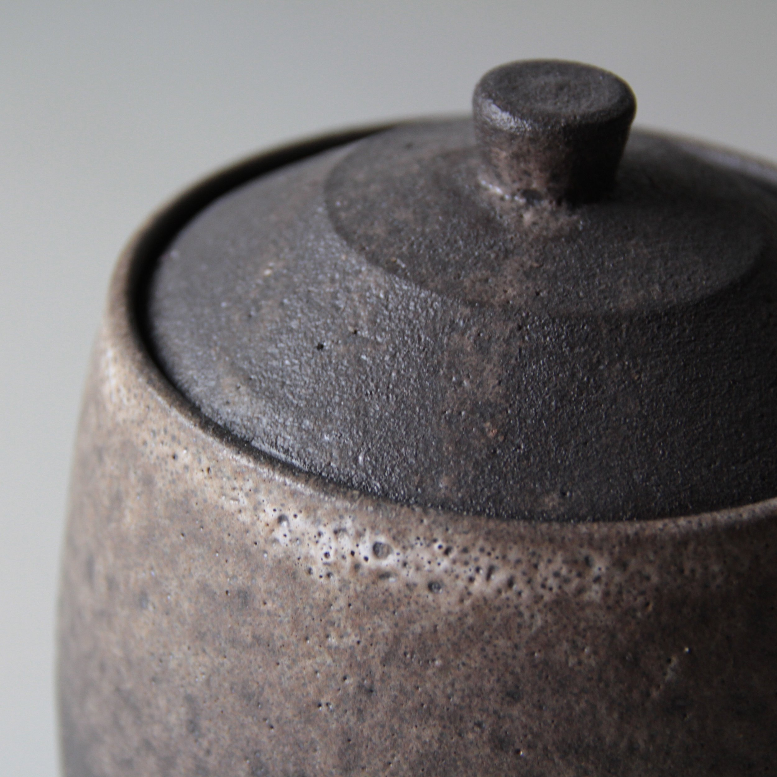 Ceramic container made by Lilith Rockett, Portland, Oregon