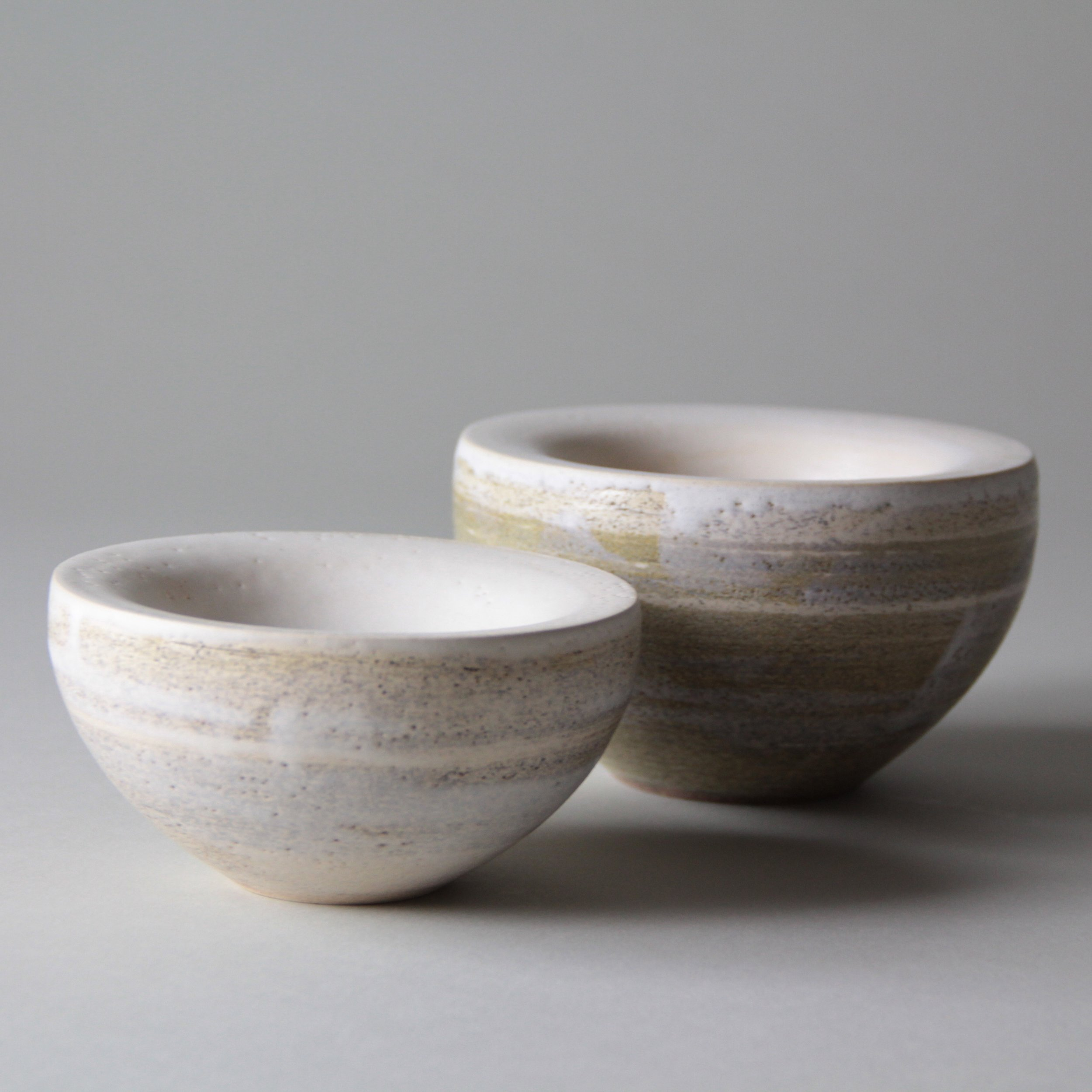Stoneware ceramic bowls by Lilith Rockett, Portland, Oregon