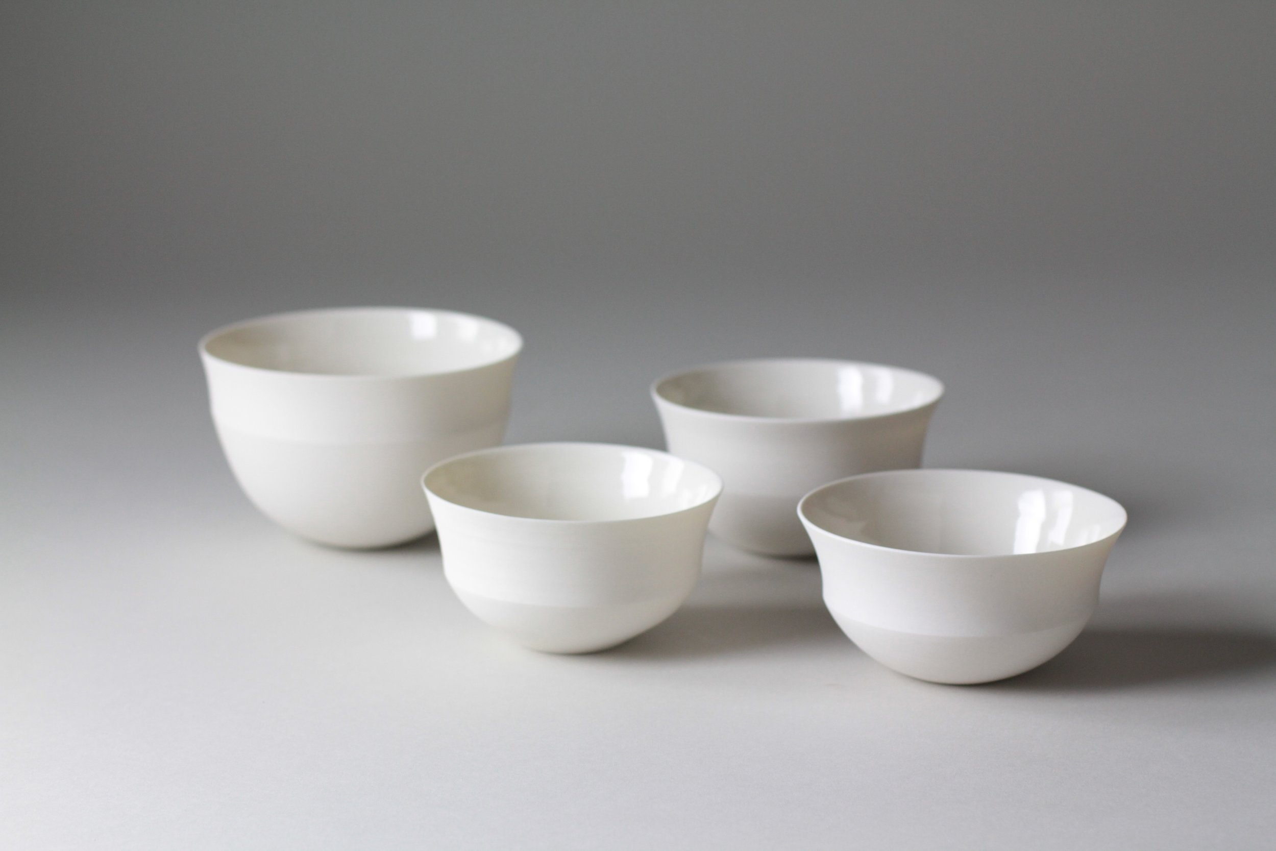 Porcelain ceramic bowl by Lilith Rockett, Portland, Oregon