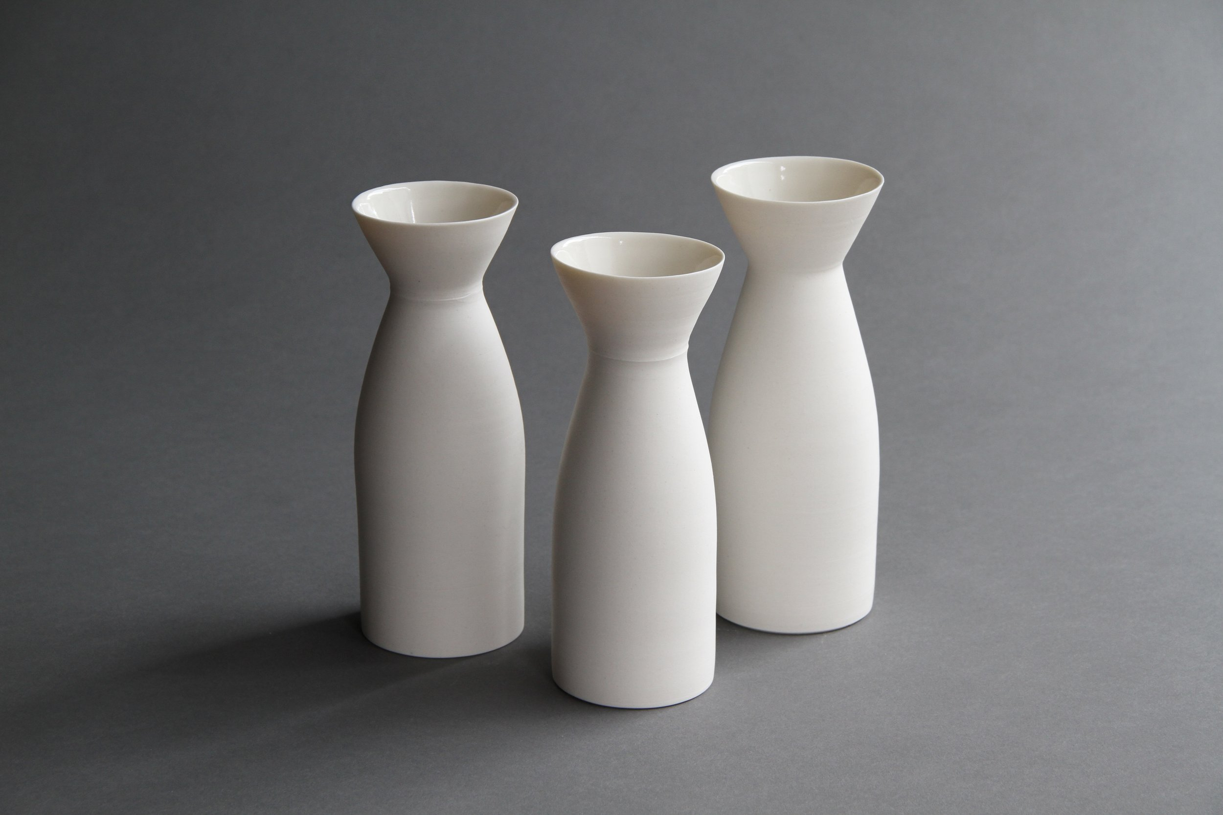 Ceramic tableware pourers set by Lilith Rockett, Portland, Oregon