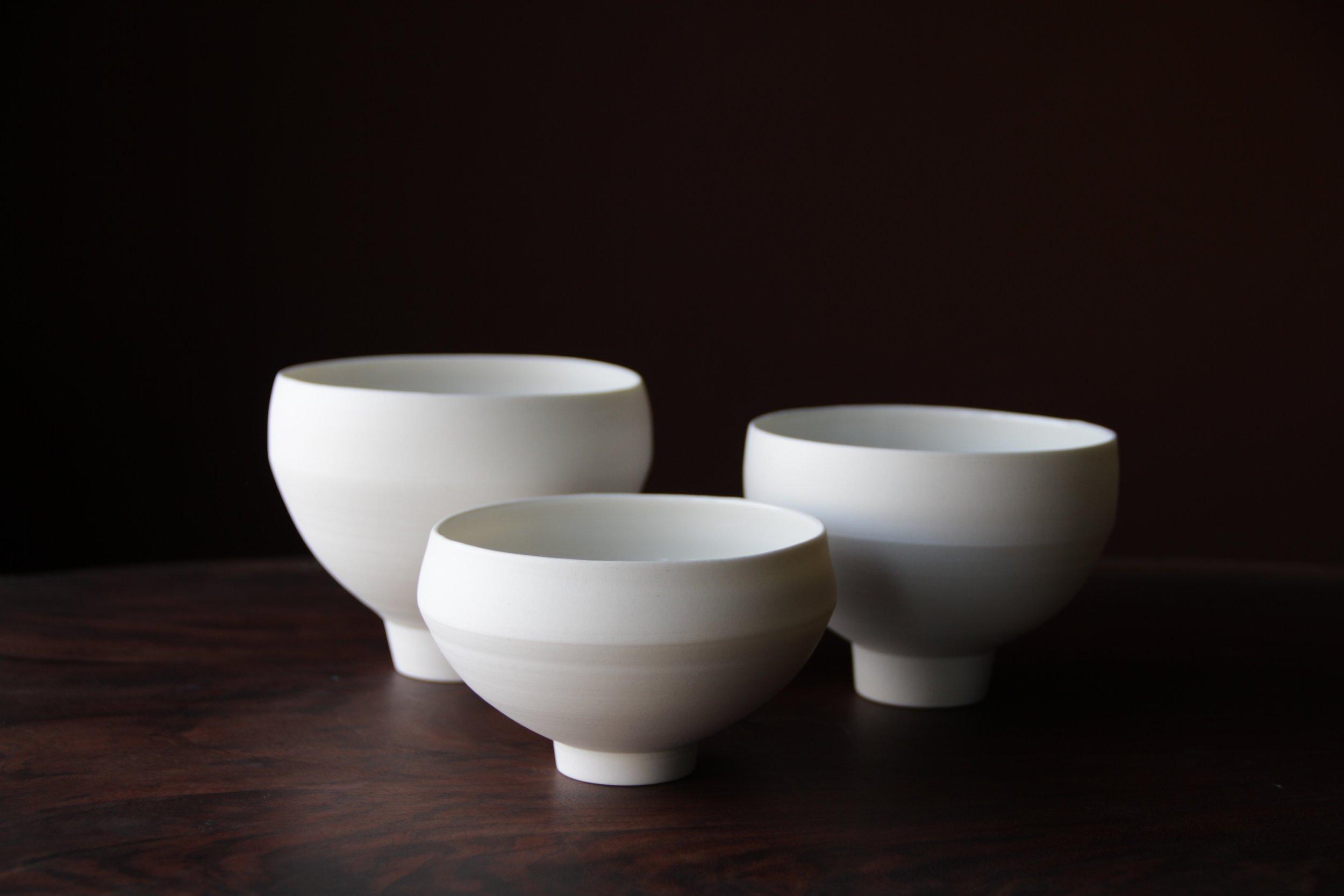 Ceramic tableware bowl set by Lilith Rockett, Portland, Oregon