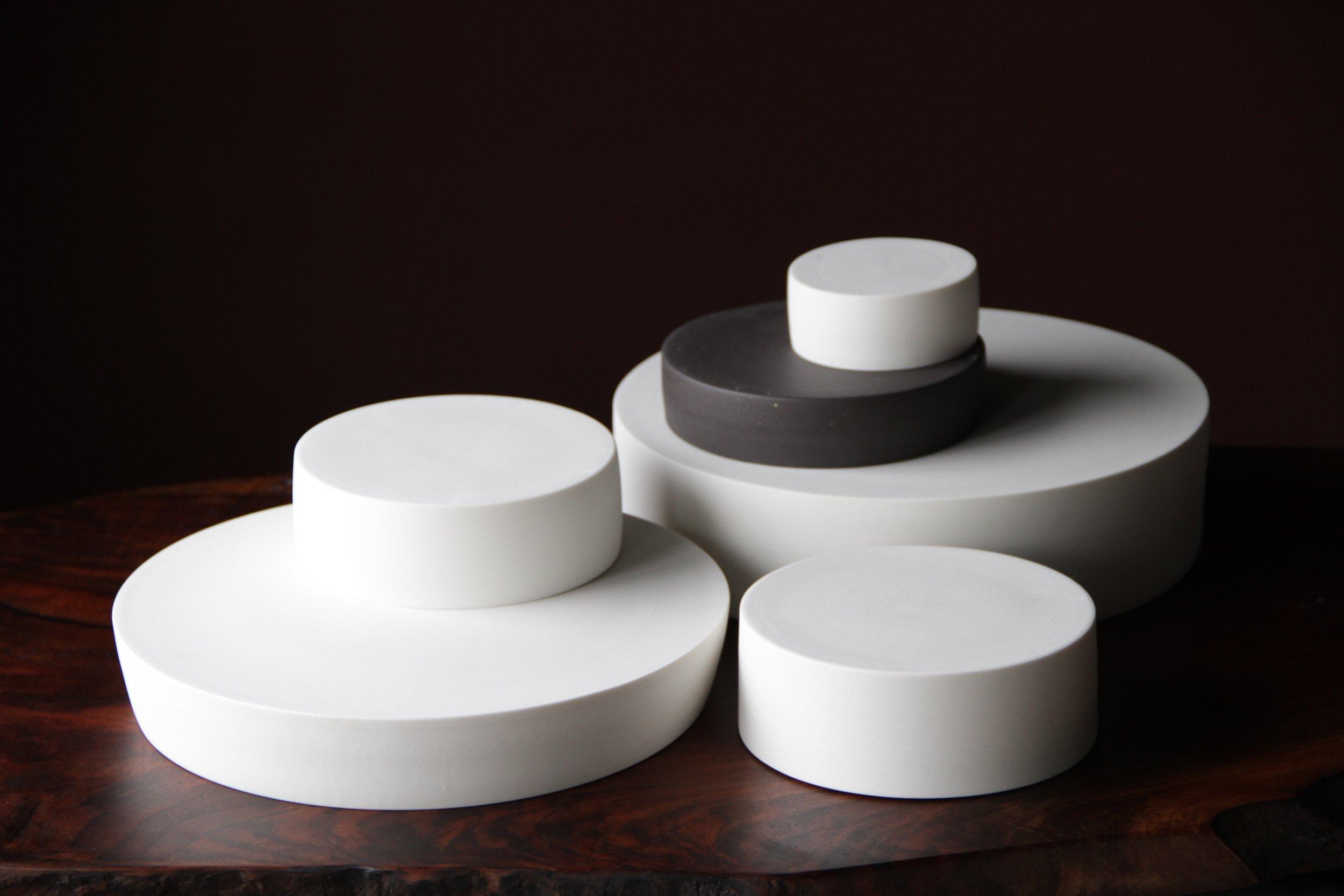 Ceramic pedestals by Lilith Rockett, Portland, Oregon