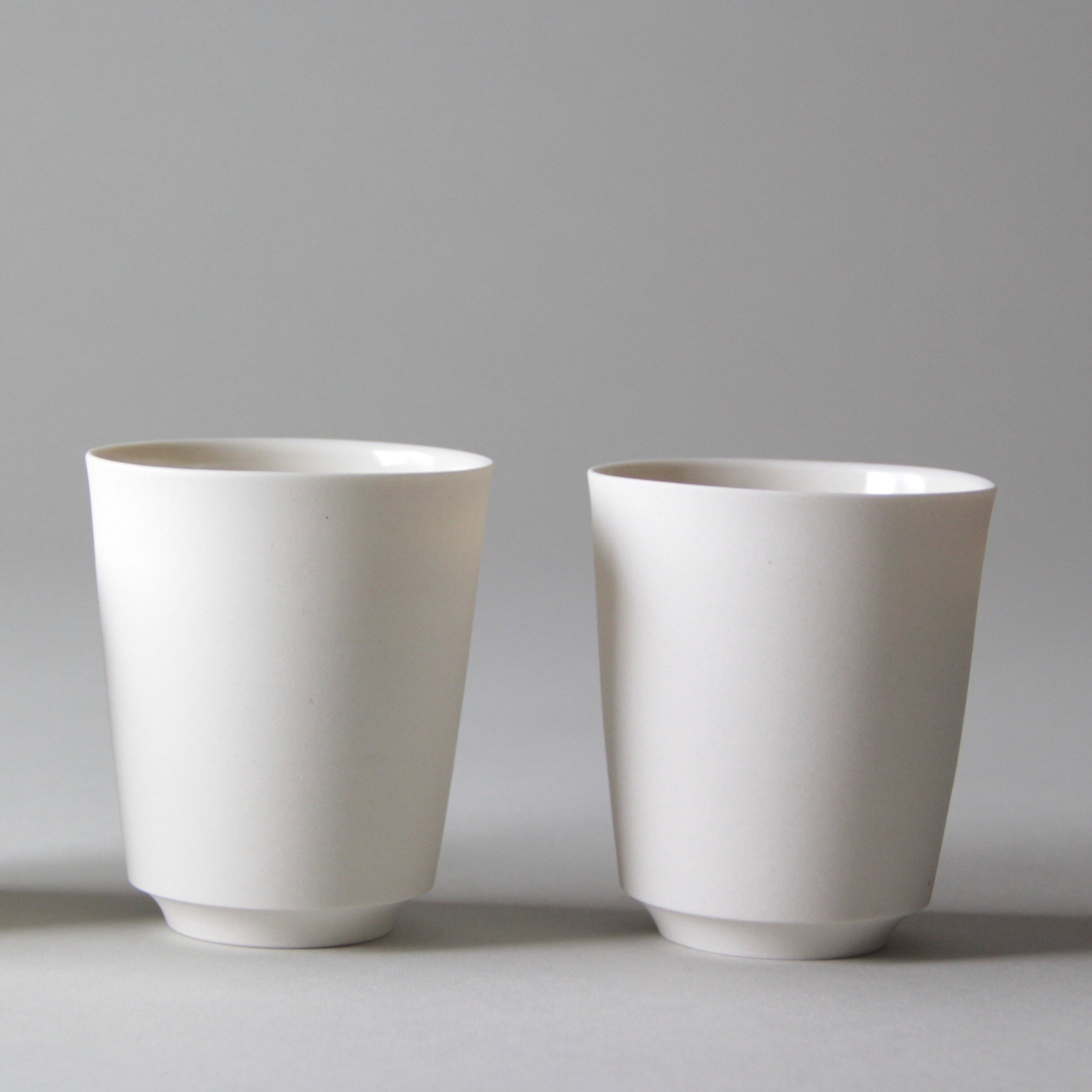 Ceramic tableware cups by Lilith Rockett, Portland, Oregon