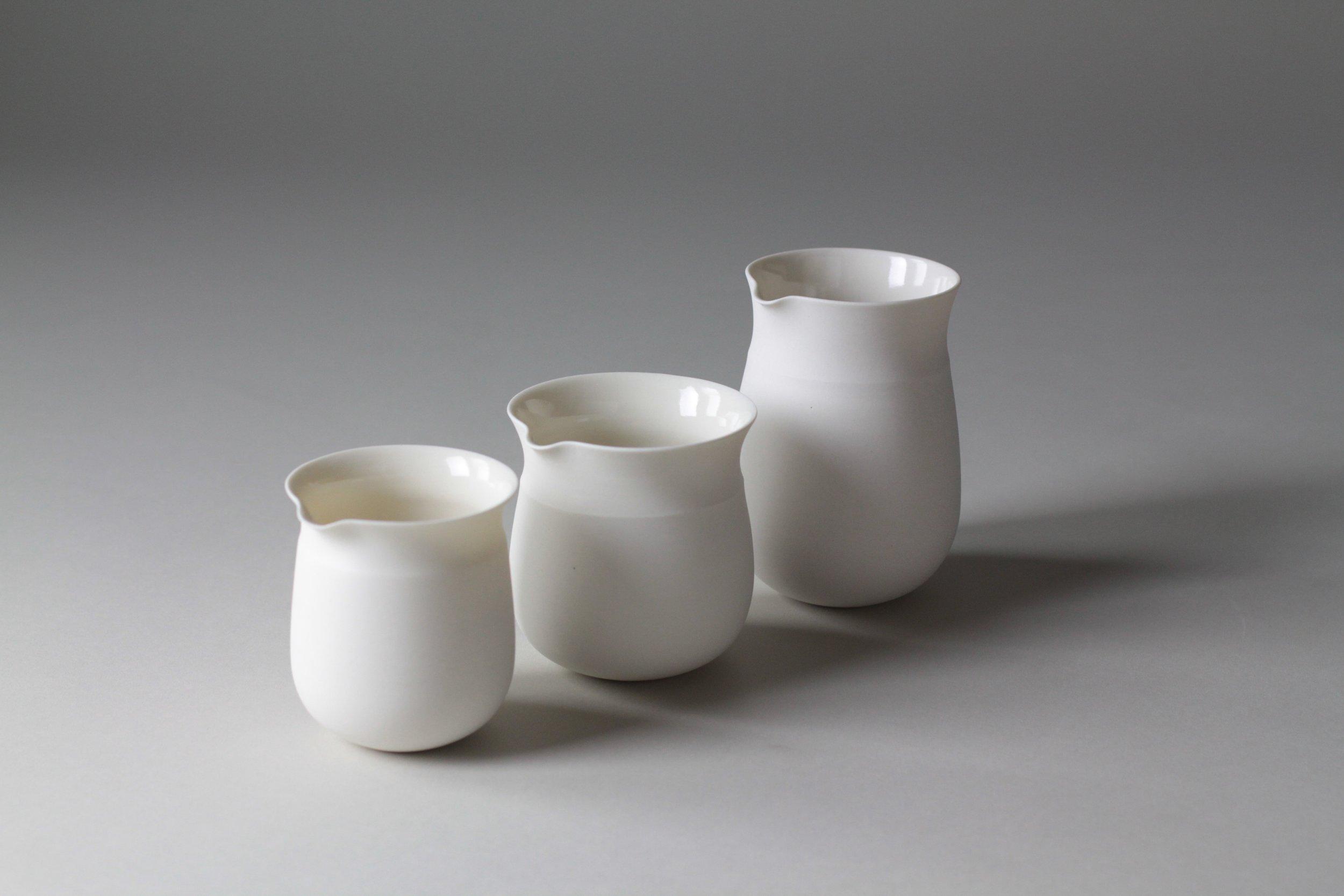 Ceramic tableware pourer by Lilith Rockett, Portland, Oregon