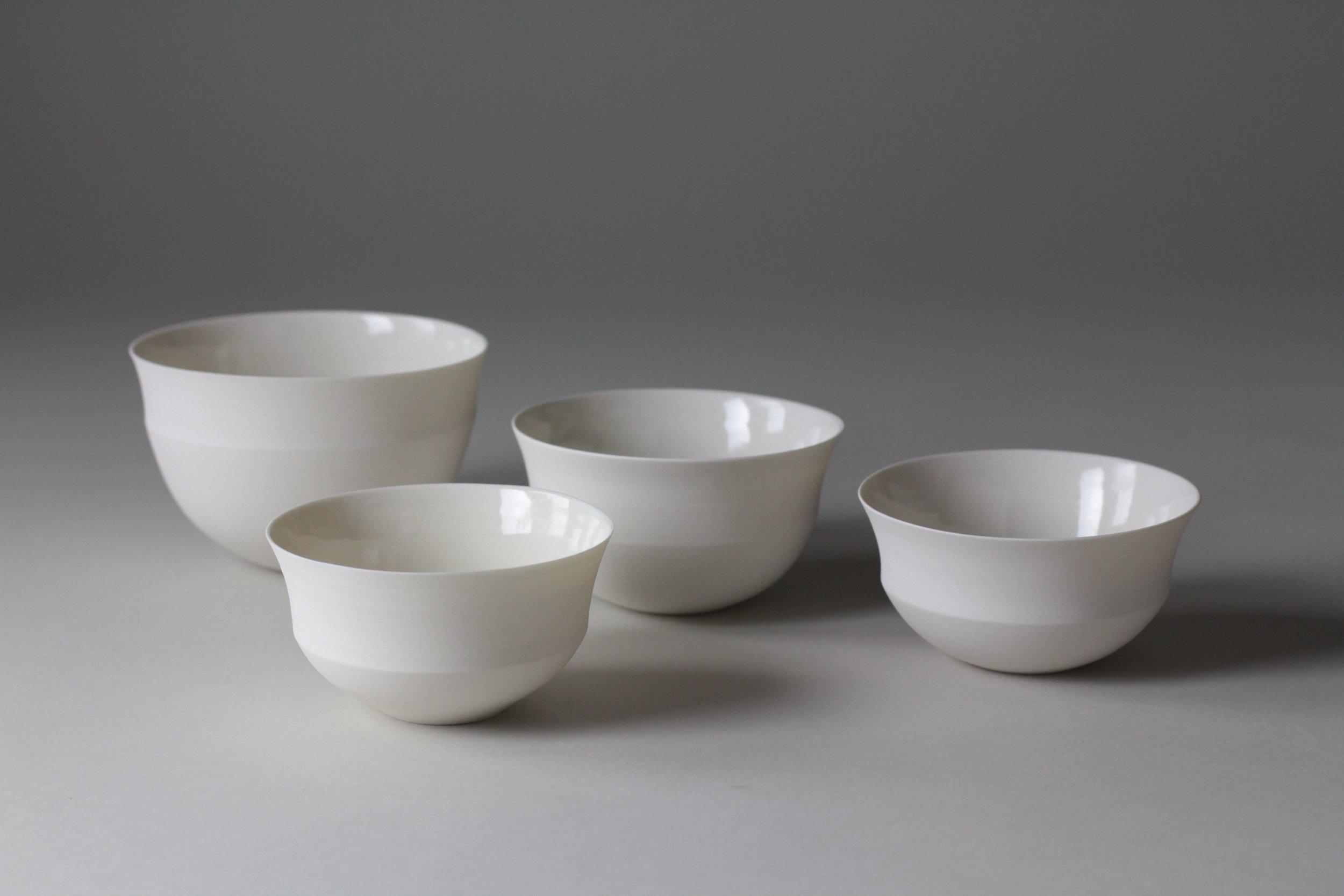Ceramic bowls by Lilith Rockett, Portland, Oregon
