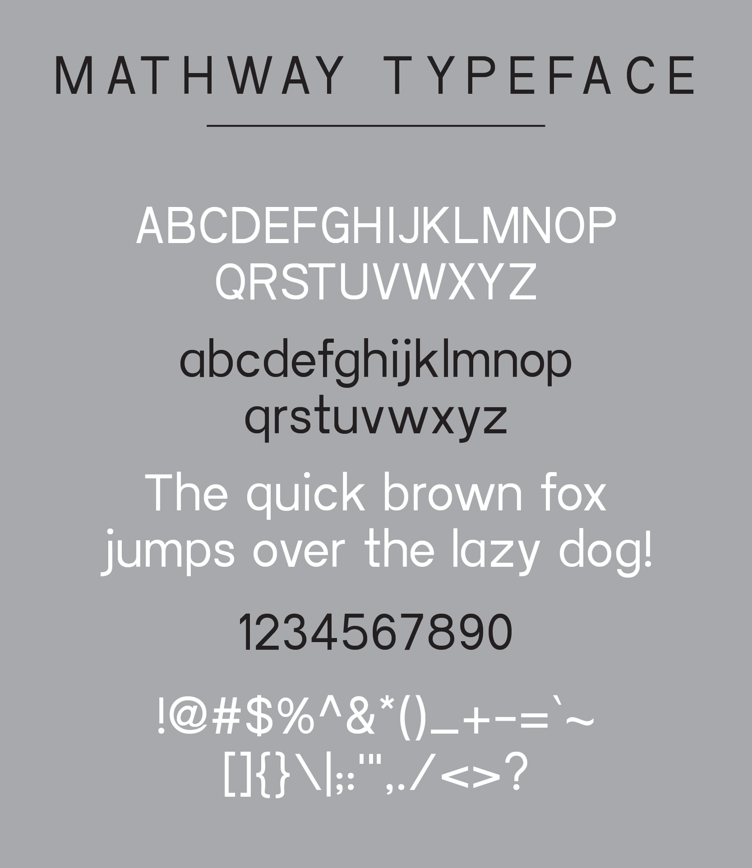 MATHWAY TYPEFACE — Courtney Campbell Design on