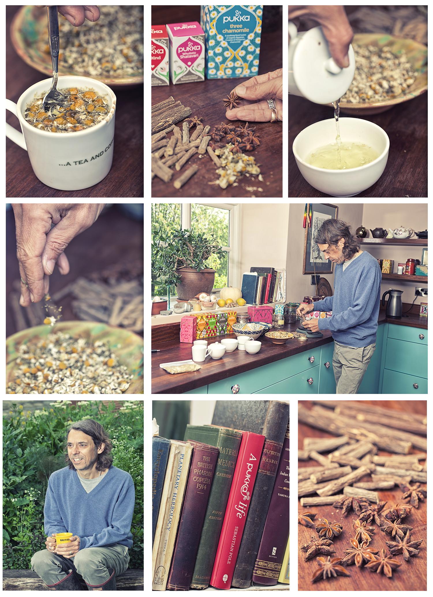 Sebastian Pole, concocting new tea recipes
