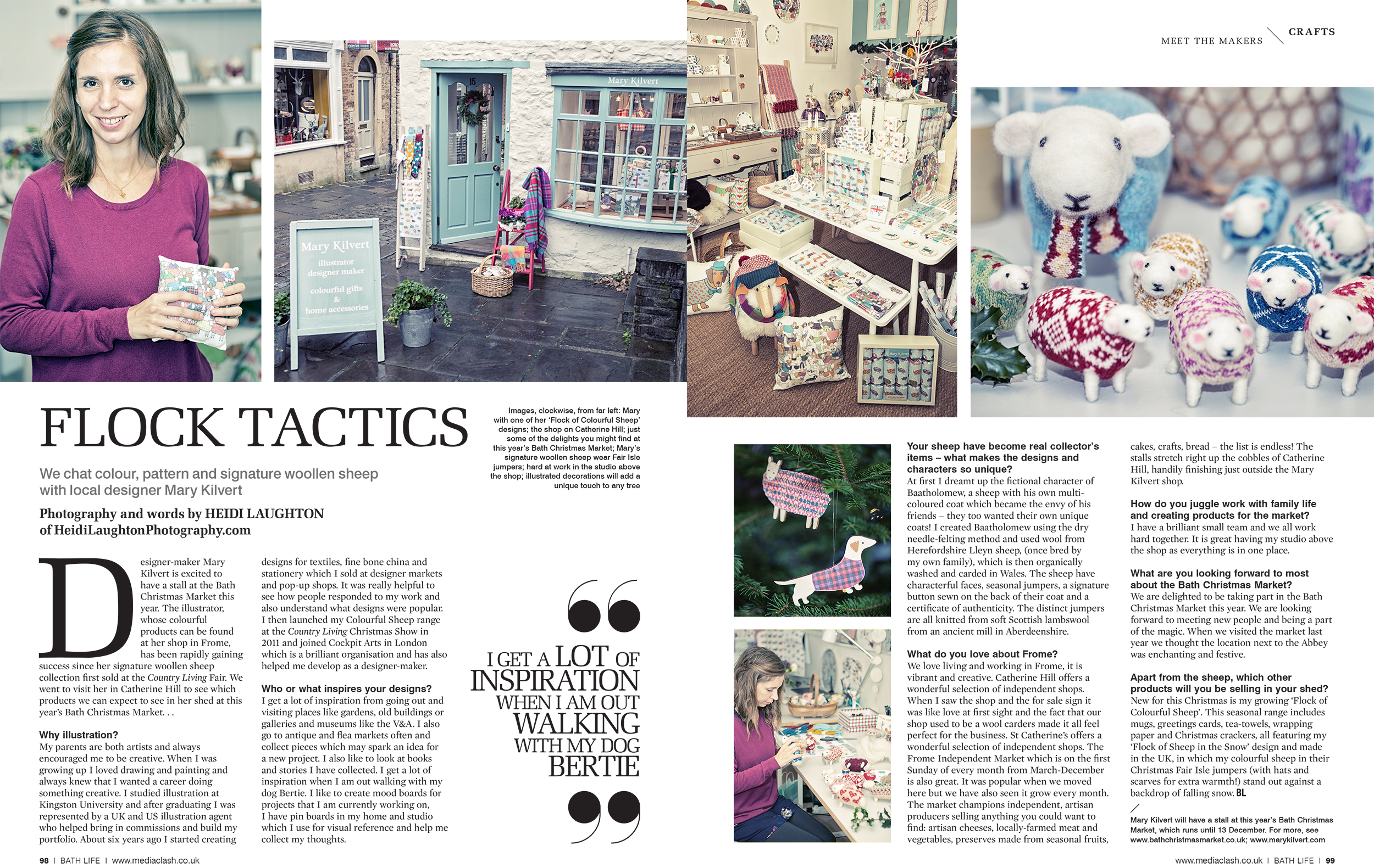 Double page spread for BathLife Magazine
