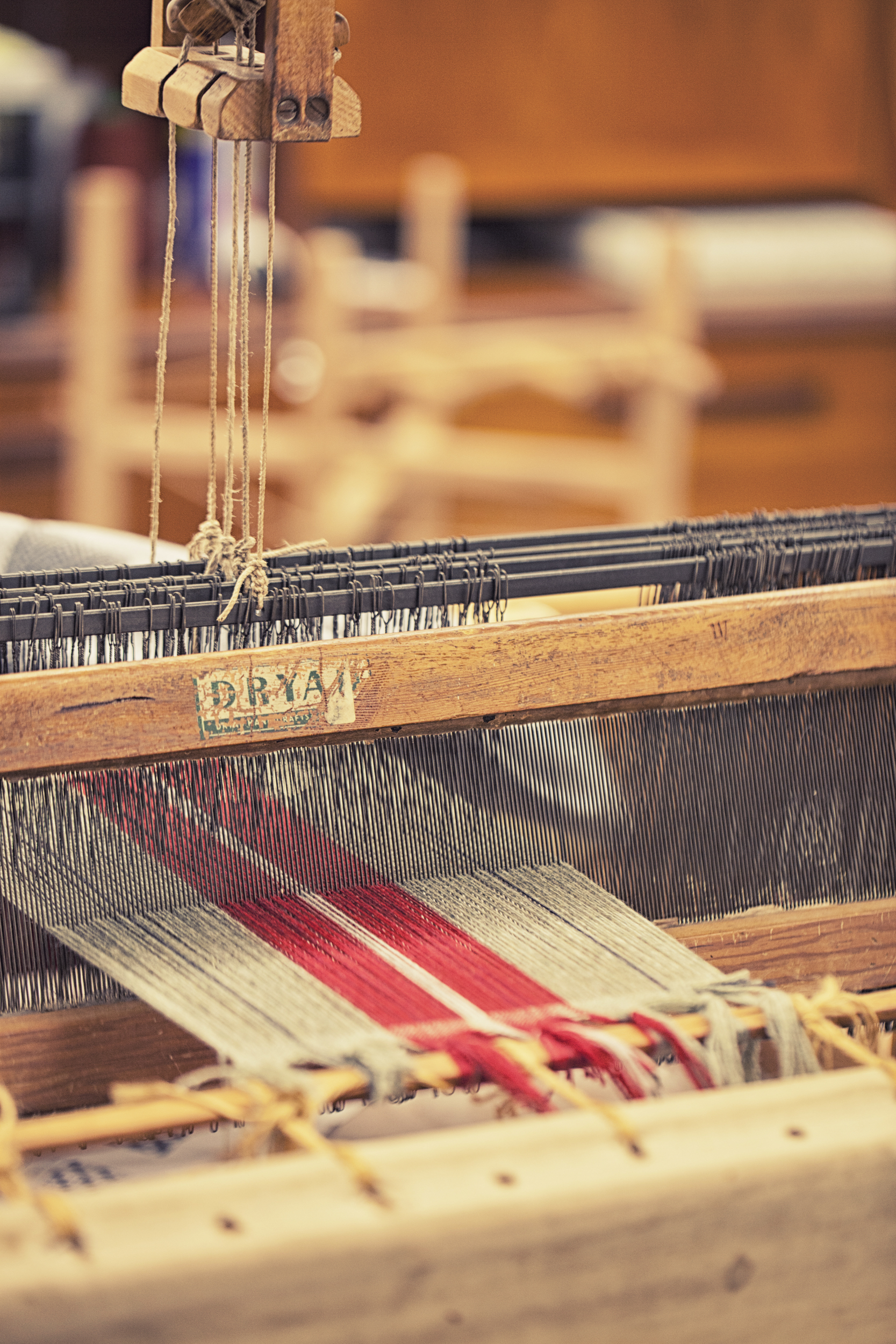 antique looms at Katherine Fraser