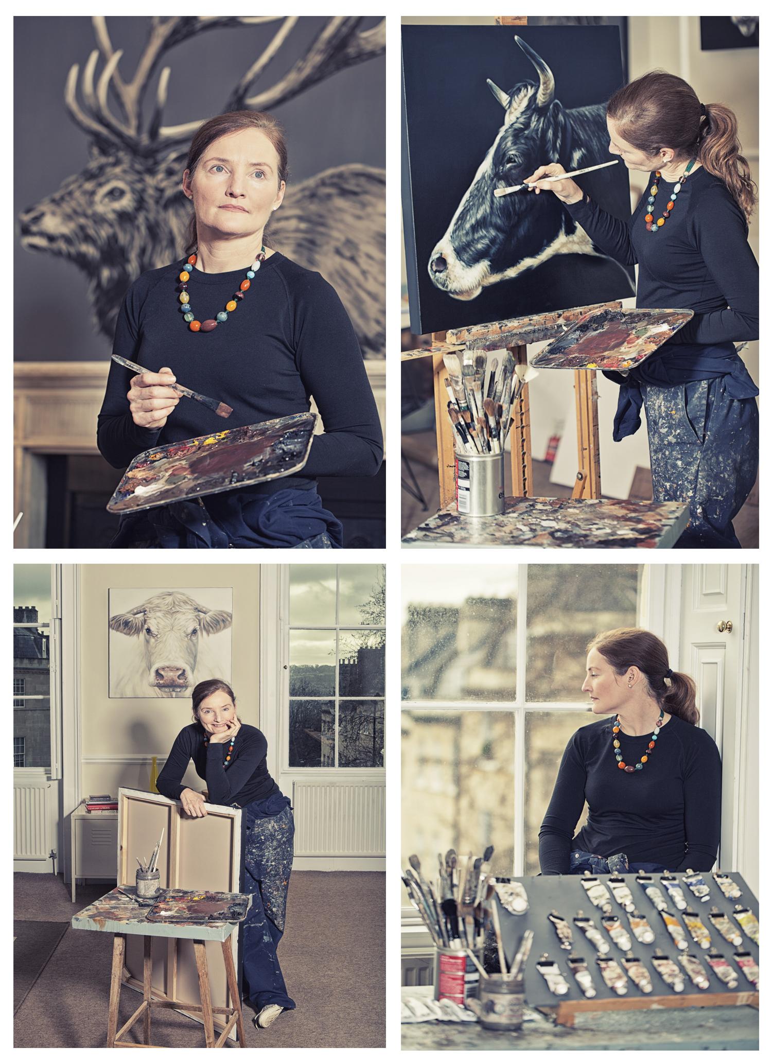Joanne Cope in her studio