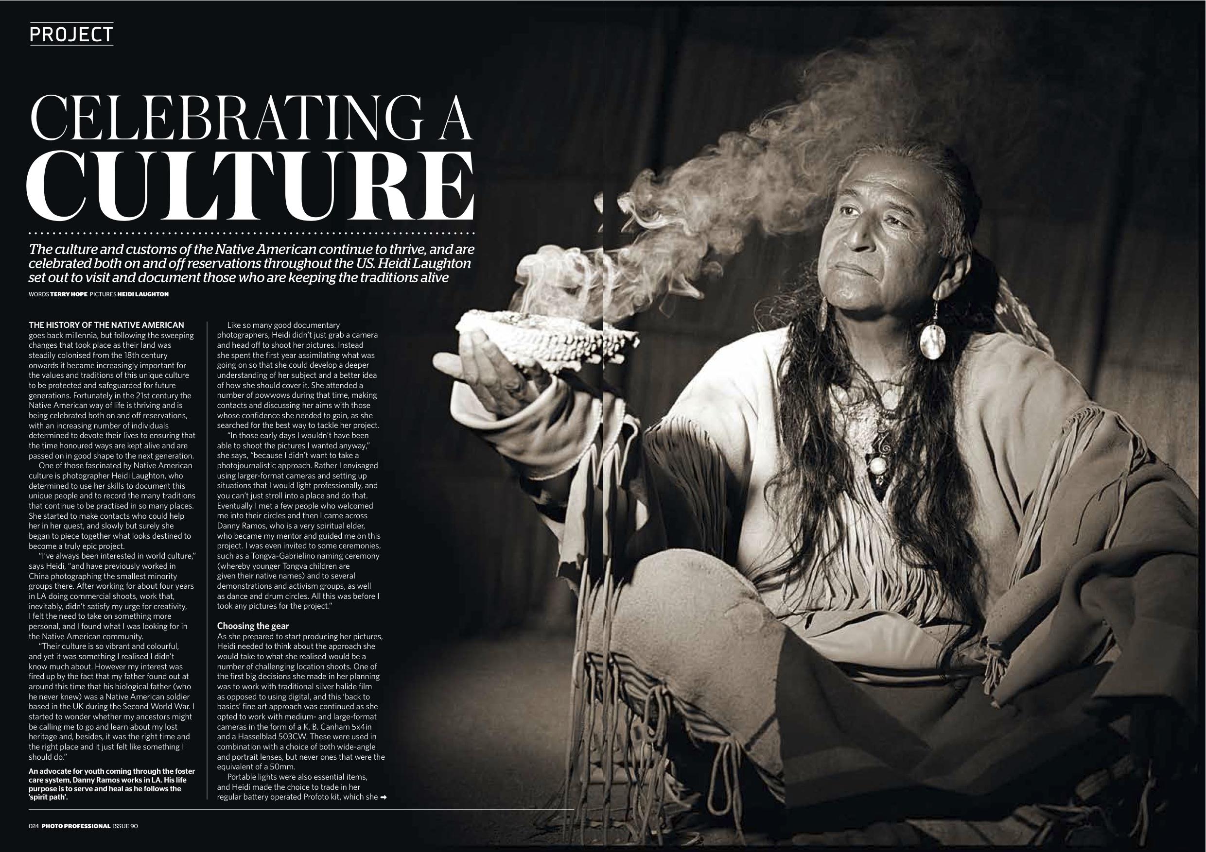 Native American Culture Series for Photo Pro magazine