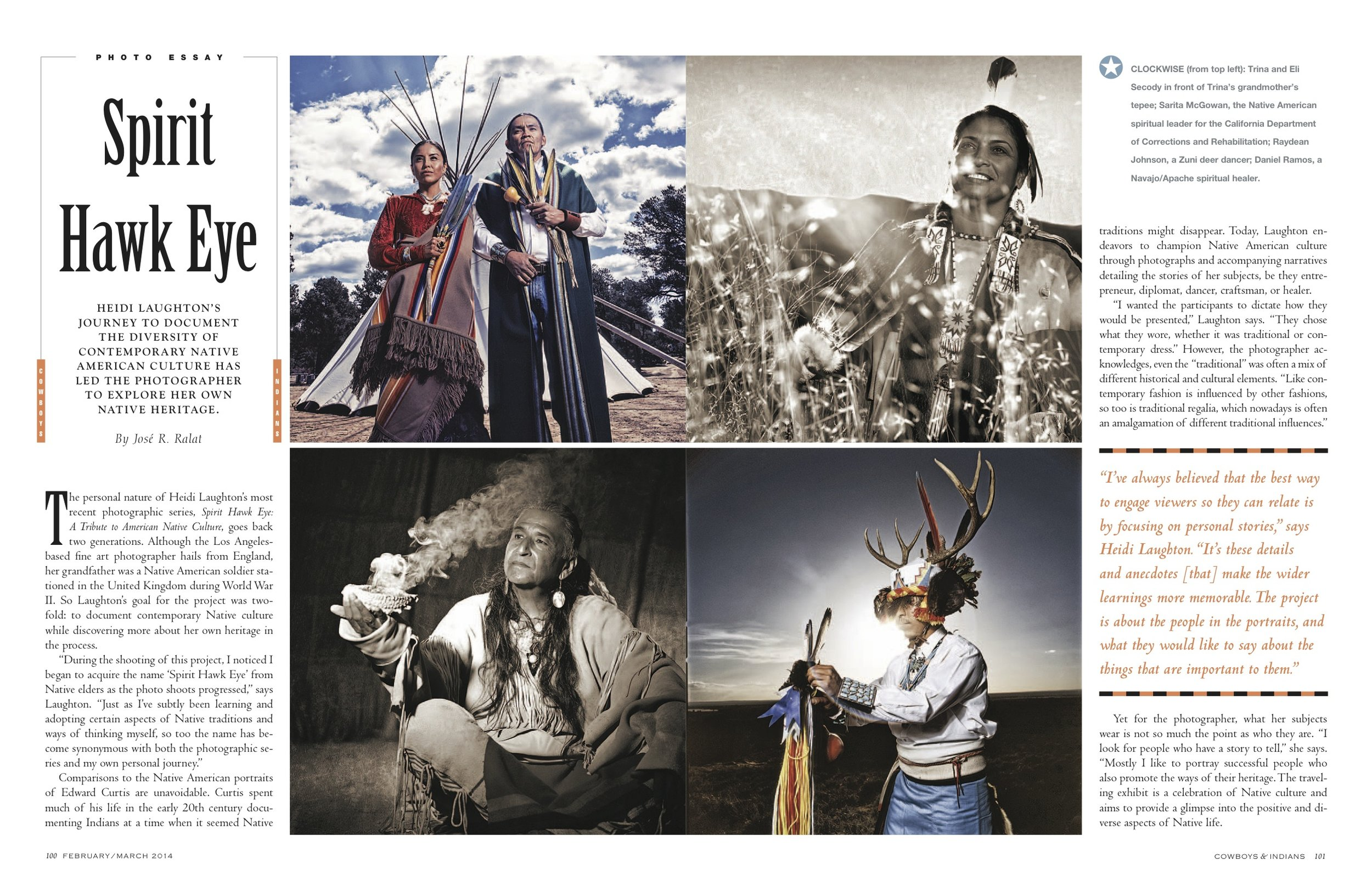 Native American Culture for Cowboys & Indians magazine