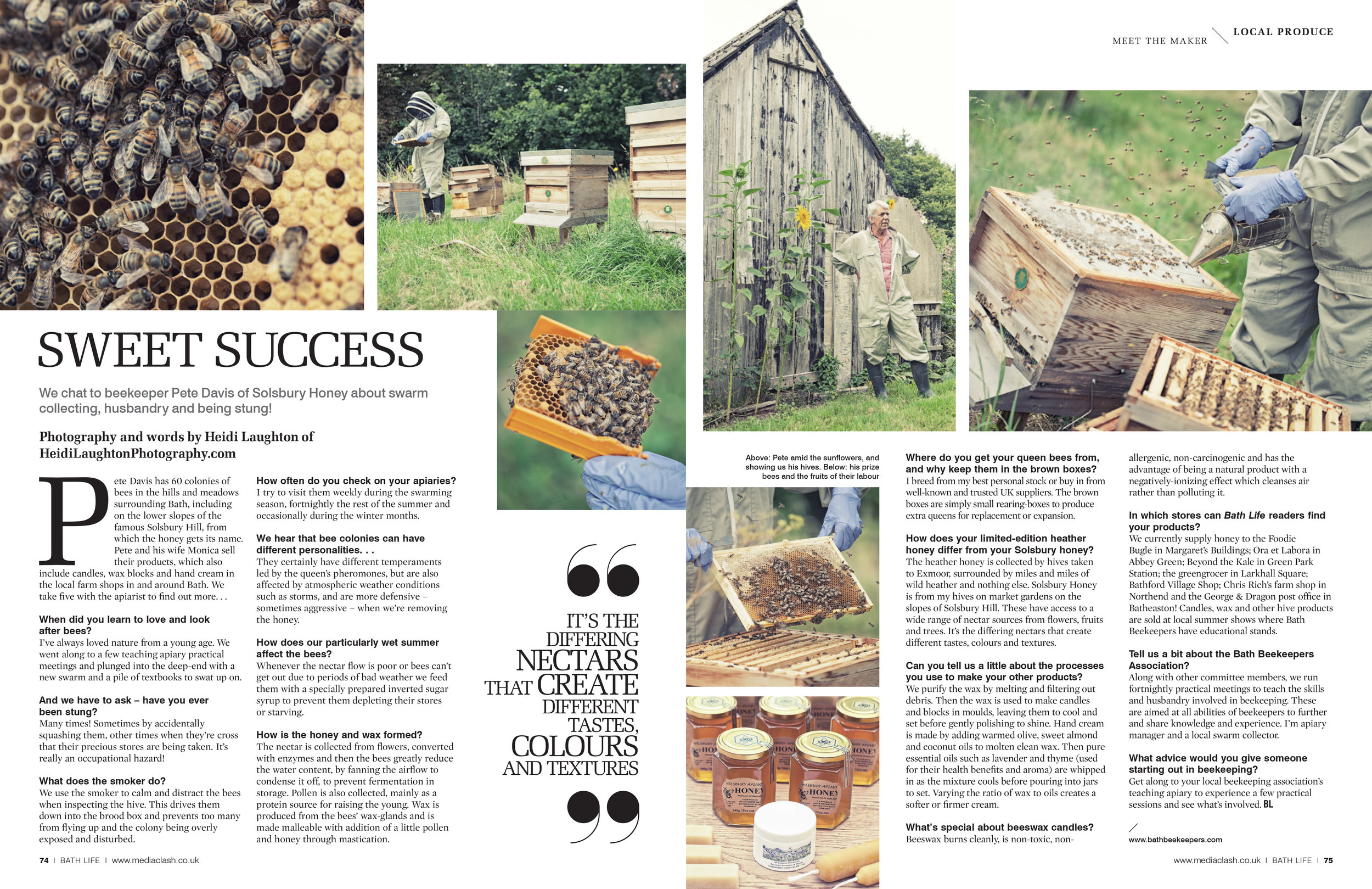 Solsbury Honey for BathLife Magazine