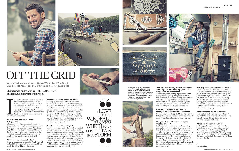 Life off Grid for BathLife Magazine